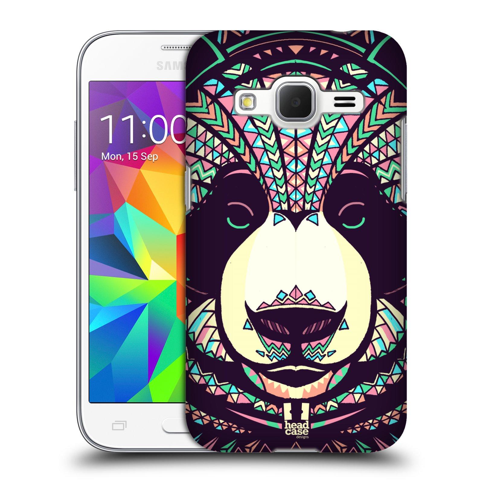 Plastové pouzdro na mobil Samsung Galaxy Core Prime LTE HEAD CASE AZTEC PANDA