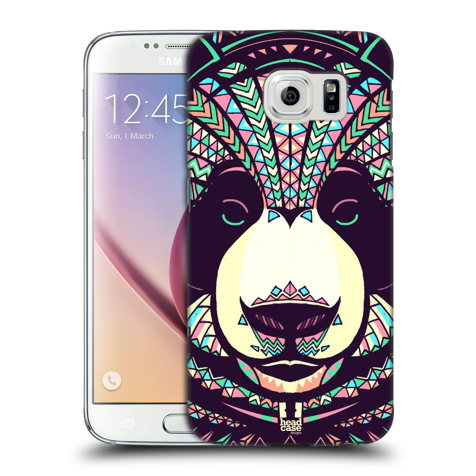 Plastové pouzdro na mobil Samsung Galaxy S6 HEAD CASE AZTEC PANDA
