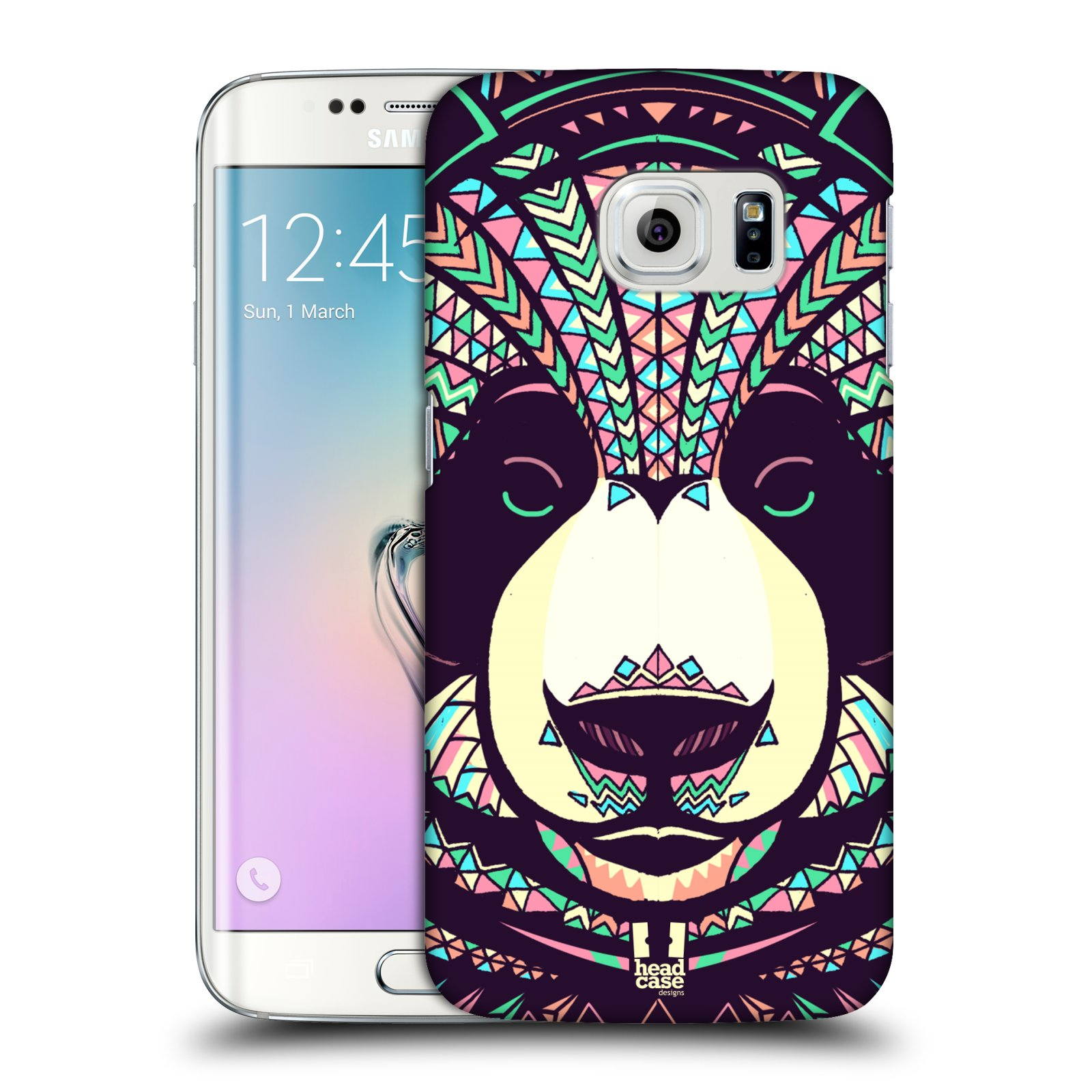 Plastové pouzdro na mobil Samsung Galaxy S6 Edge HEAD CASE AZTEC PANDA