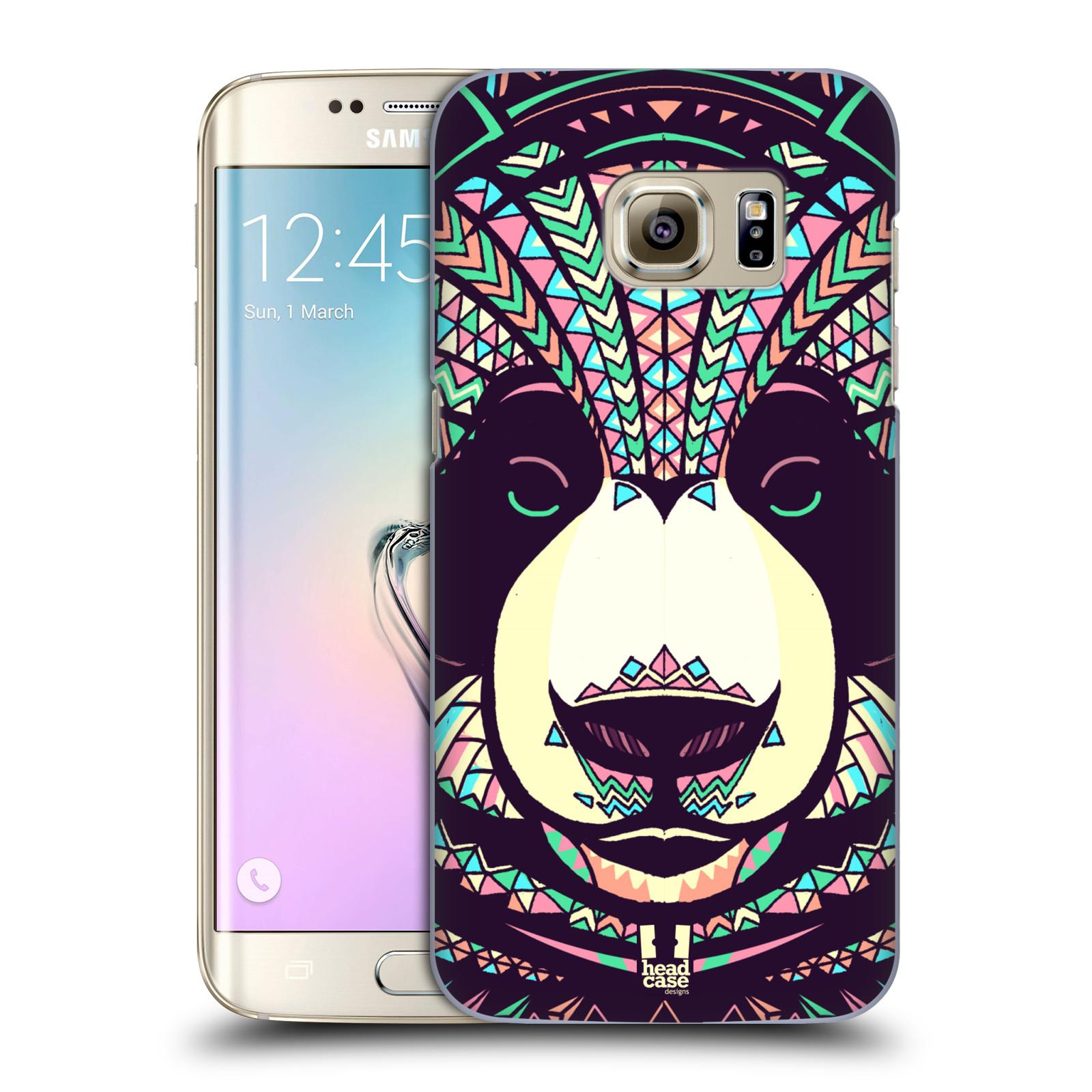 Plastové pouzdro na mobil Samsung Galaxy S7 Edge HEAD CASE AZTEC PANDA