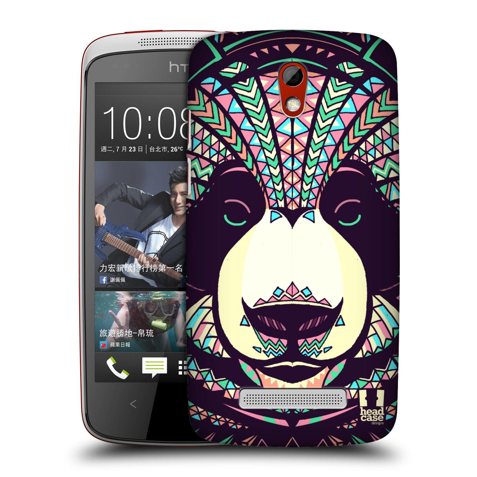 Plastové pouzdro na mobil HTC Desire 500 HEAD CASE AZTEC PANDA (Kryt či obal na mobilní telefon HTC Desire 500)