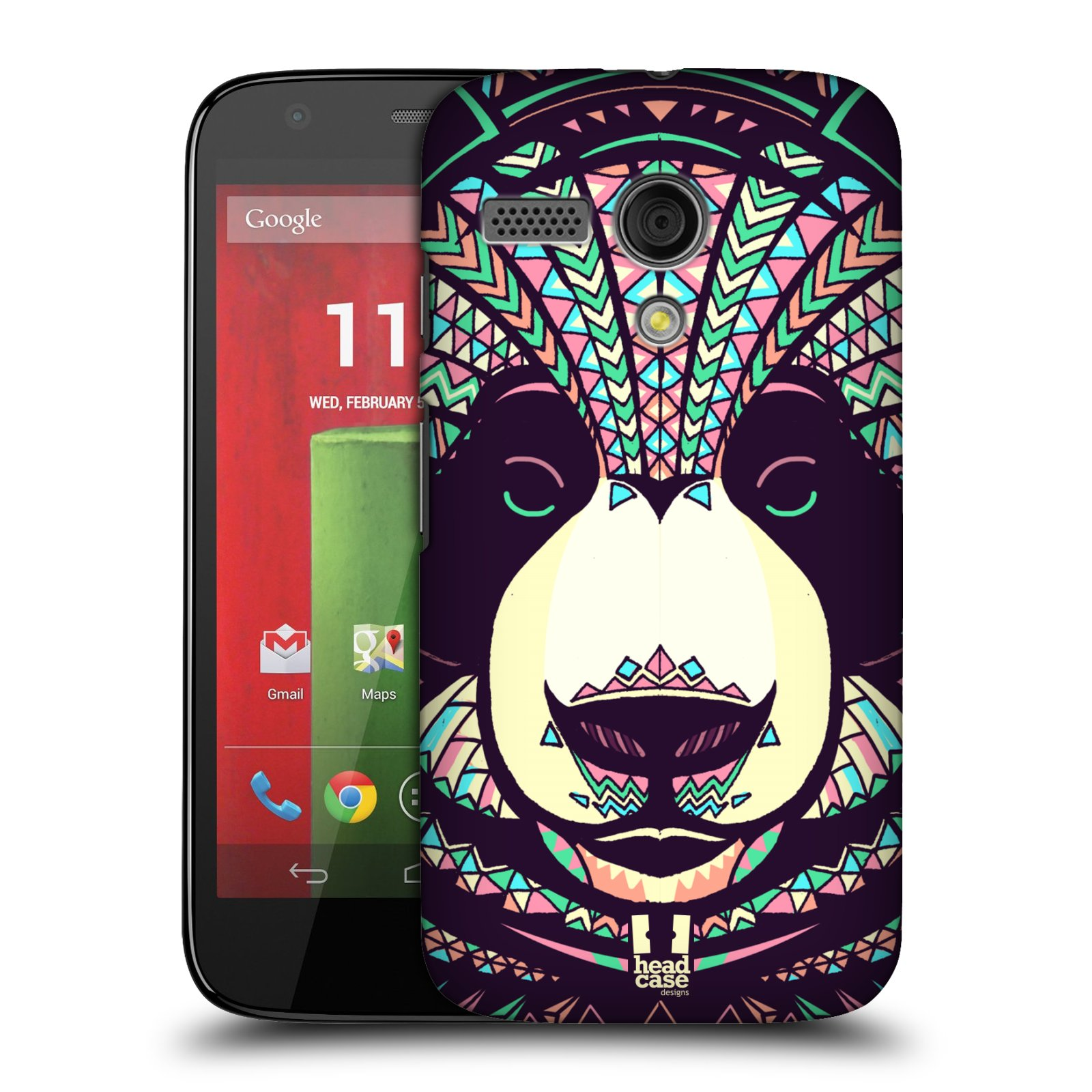 Plastové pouzdro na mobil Motorola Moto G HEAD CASE AZTEC PANDA (Kryt či obal na mobilní telefon Motorola Moto G)