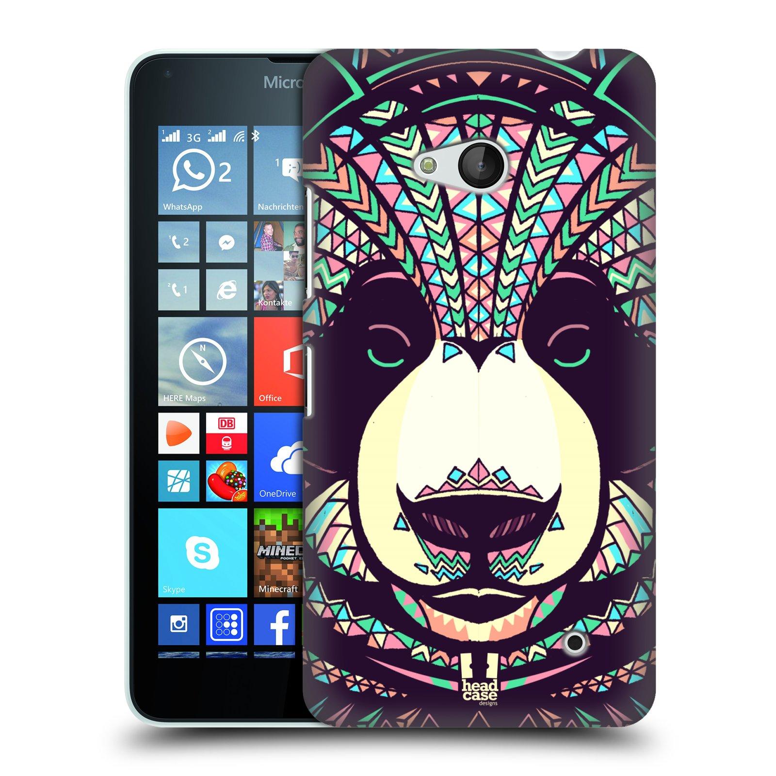 Plastové pouzdro na mobil Microsoft Lumia 640 HEAD CASE AZTEC PANDA