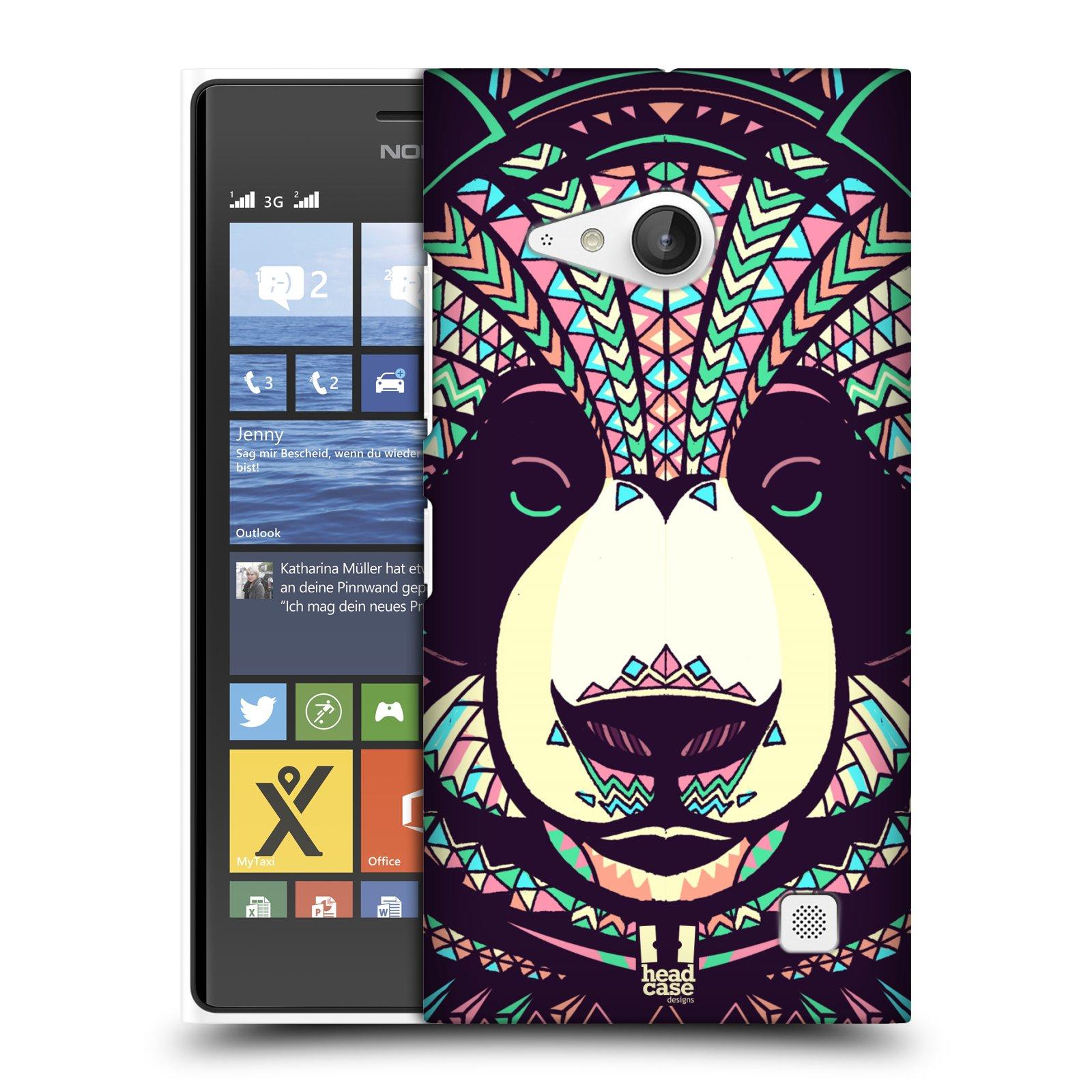Plastové pouzdro na mobil Nokia Lumia 735 HEAD CASE AZTEC PANDA