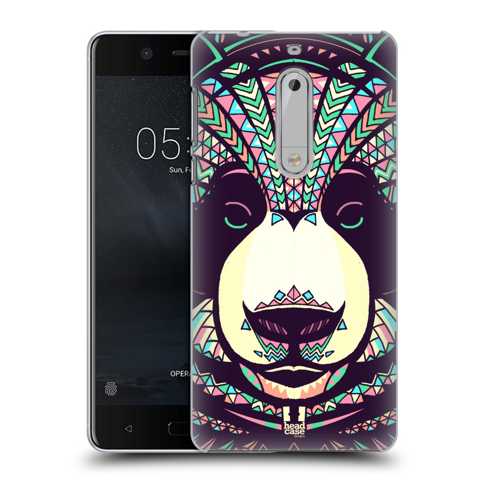 Plastové pouzdro na mobil Nokia 5 Head Case - AZTEC PANDA
