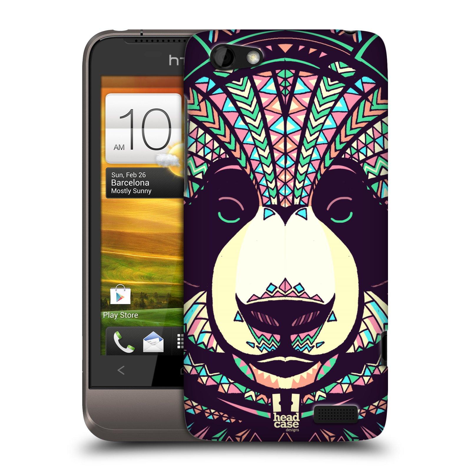 Plastové pouzdro na mobil HTC ONE V HEAD CASE AZTEC PANDA (Kryt či obal na mobilní telefon HTC ONE V)