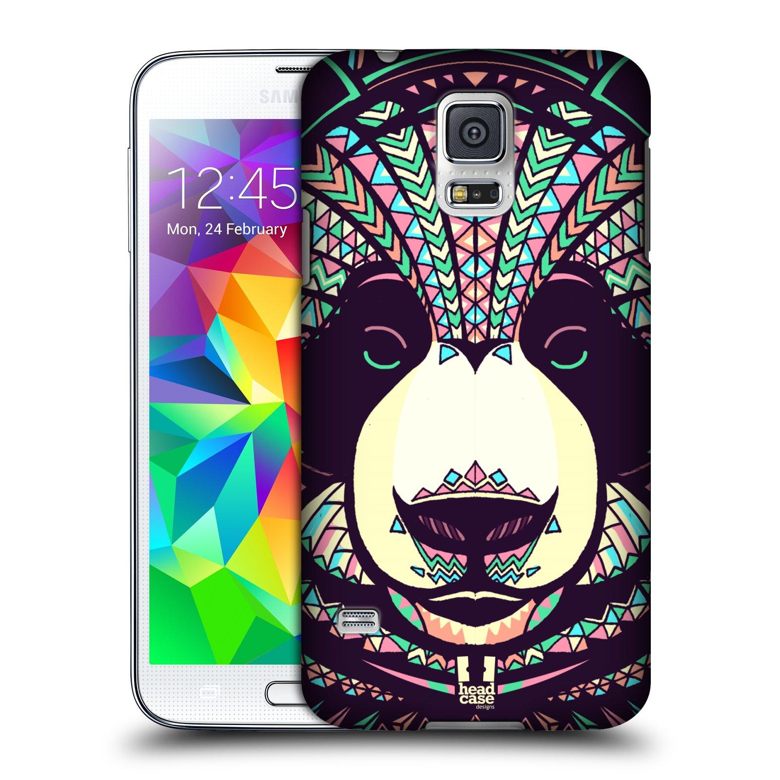 Plastové pouzdro na mobil Samsung Galaxy S5 HEAD CASE AZTEC PANDA