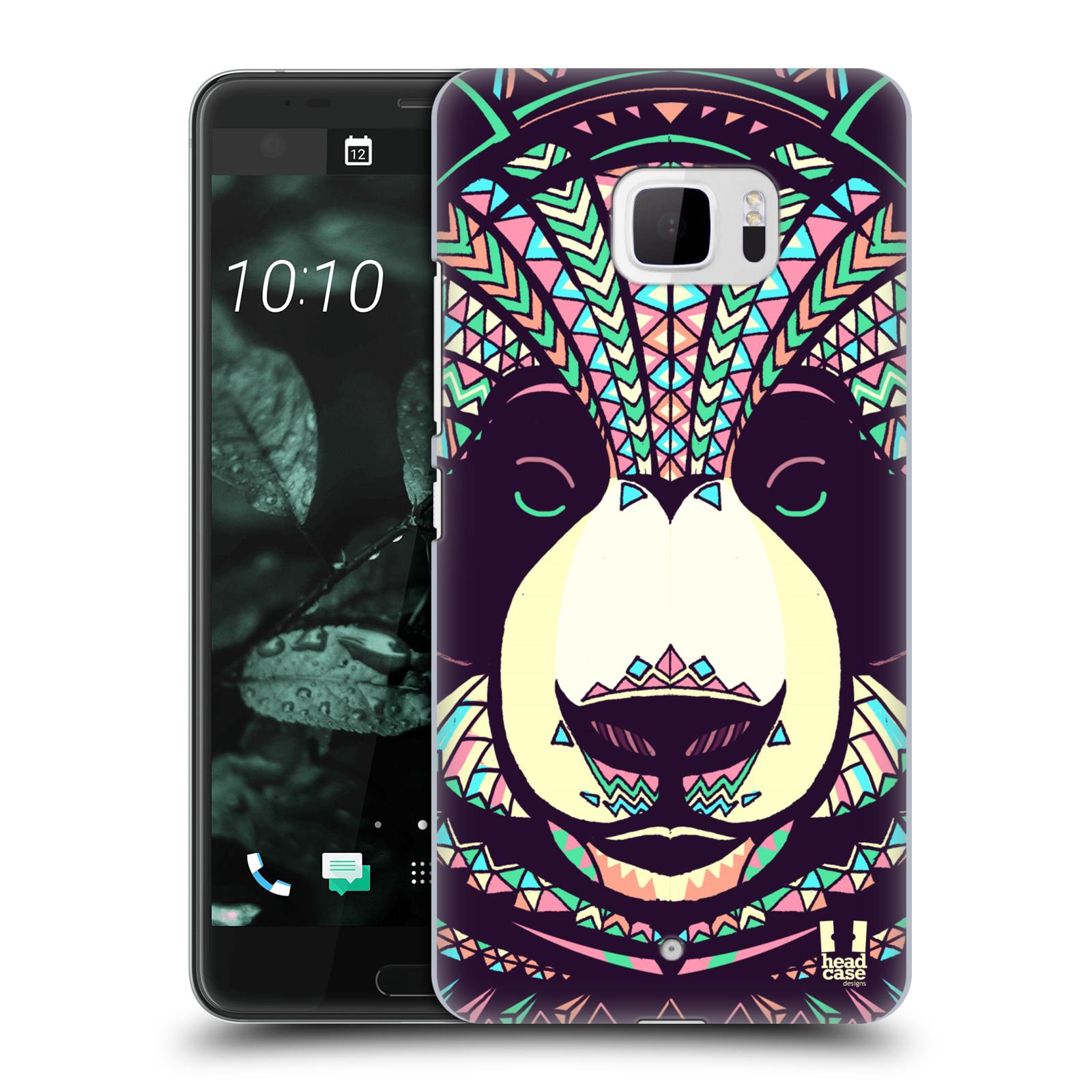 Plastové pouzdro na mobil HTC U Ultra Head Case - AZTEC PANDA (Plastový kryt či obal na mobilní telefon HTC U Ultra (99HALT015-00))