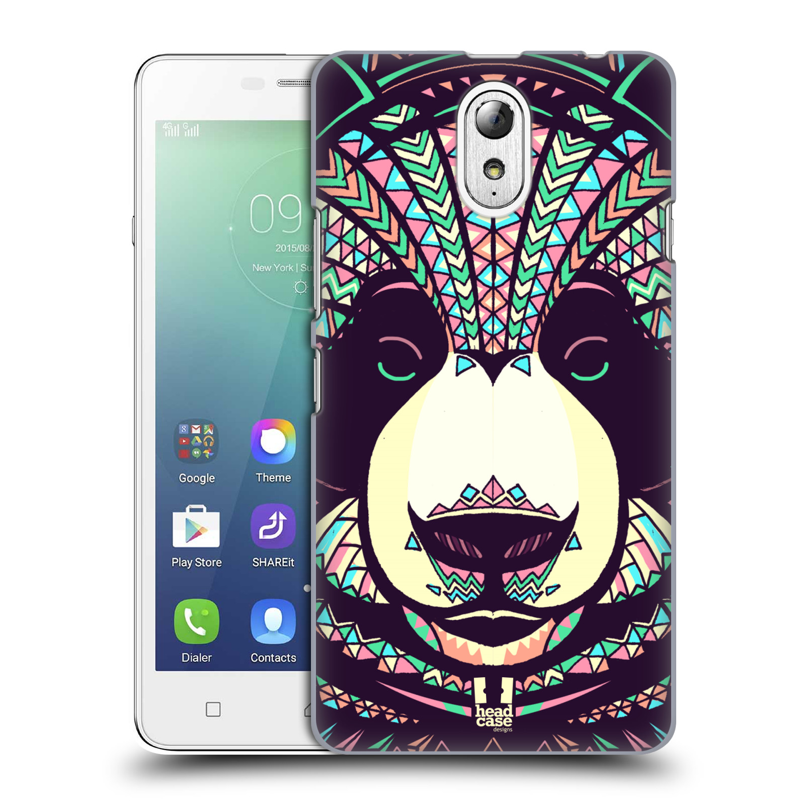 Plastové pouzdro na mobil Lenovo Vibe P1m HEAD CASE AZTEC PANDA