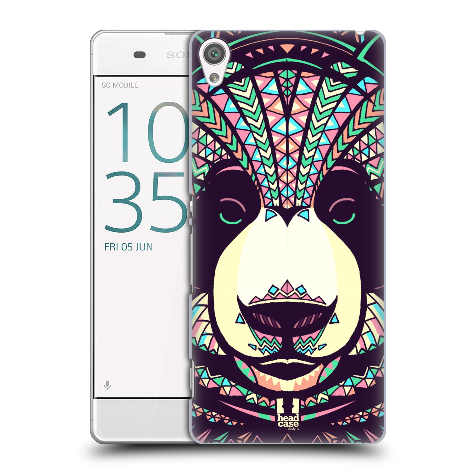 Plastové pouzdro na mobil Sony Xperia XA HEAD CASE AZTEC PANDA