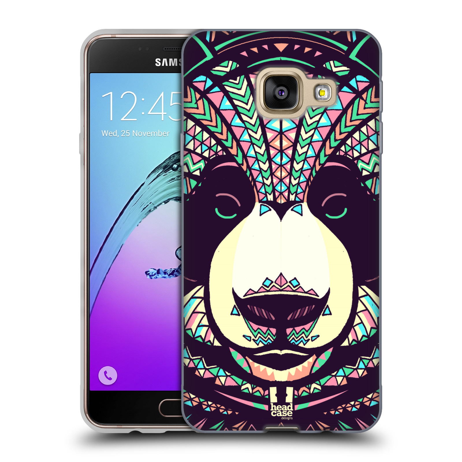 Silikonové pouzdro na mobil Samsung Galaxy A3 (2016) HEAD CASE AZTEC PANDA