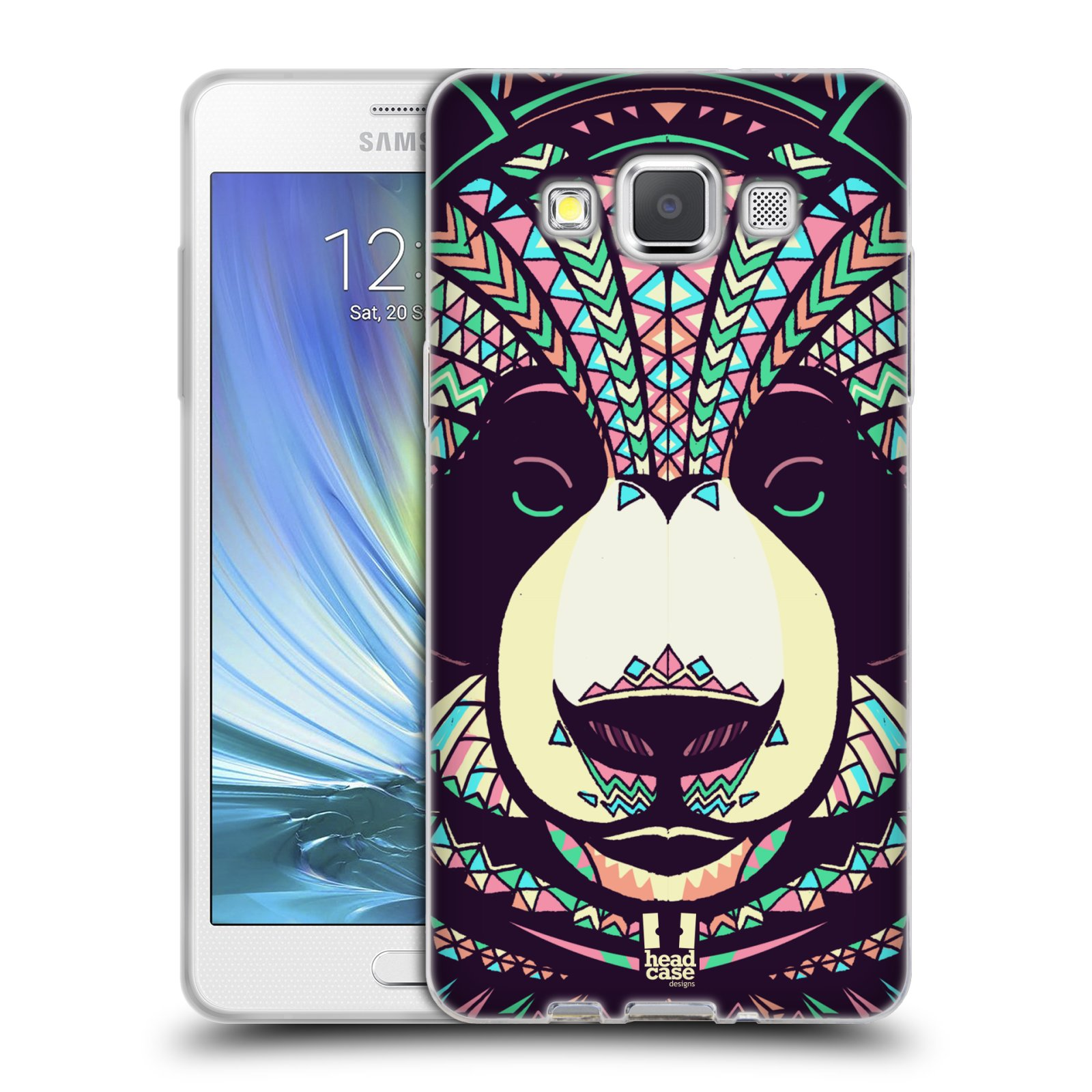 Silikonové pouzdro na mobil Samsung Galaxy A5 HEAD CASE AZTEC PANDA