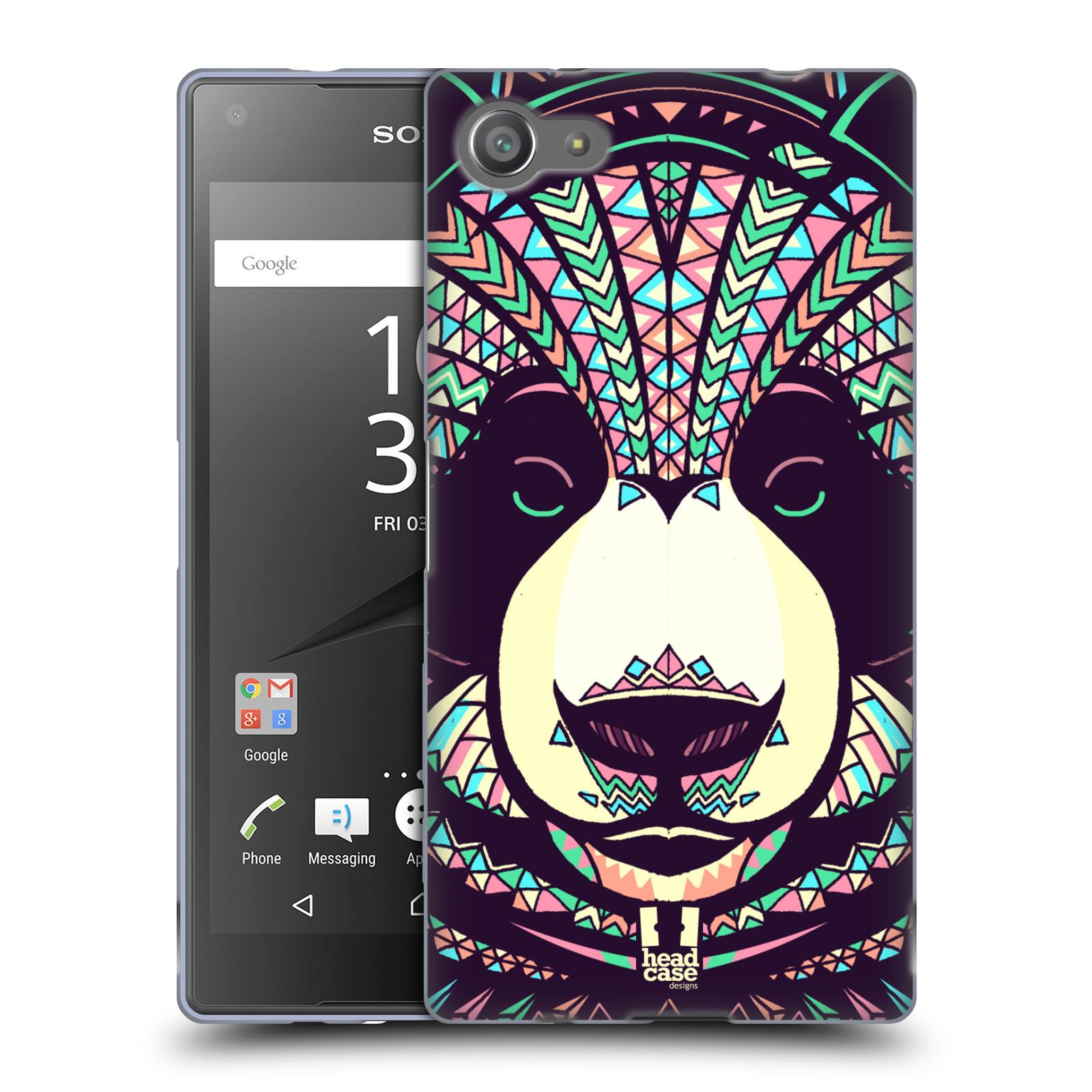 Silikonové pouzdro na mobil Sony Xperia Z5 Compact HEAD CASE AZTEC PANDA