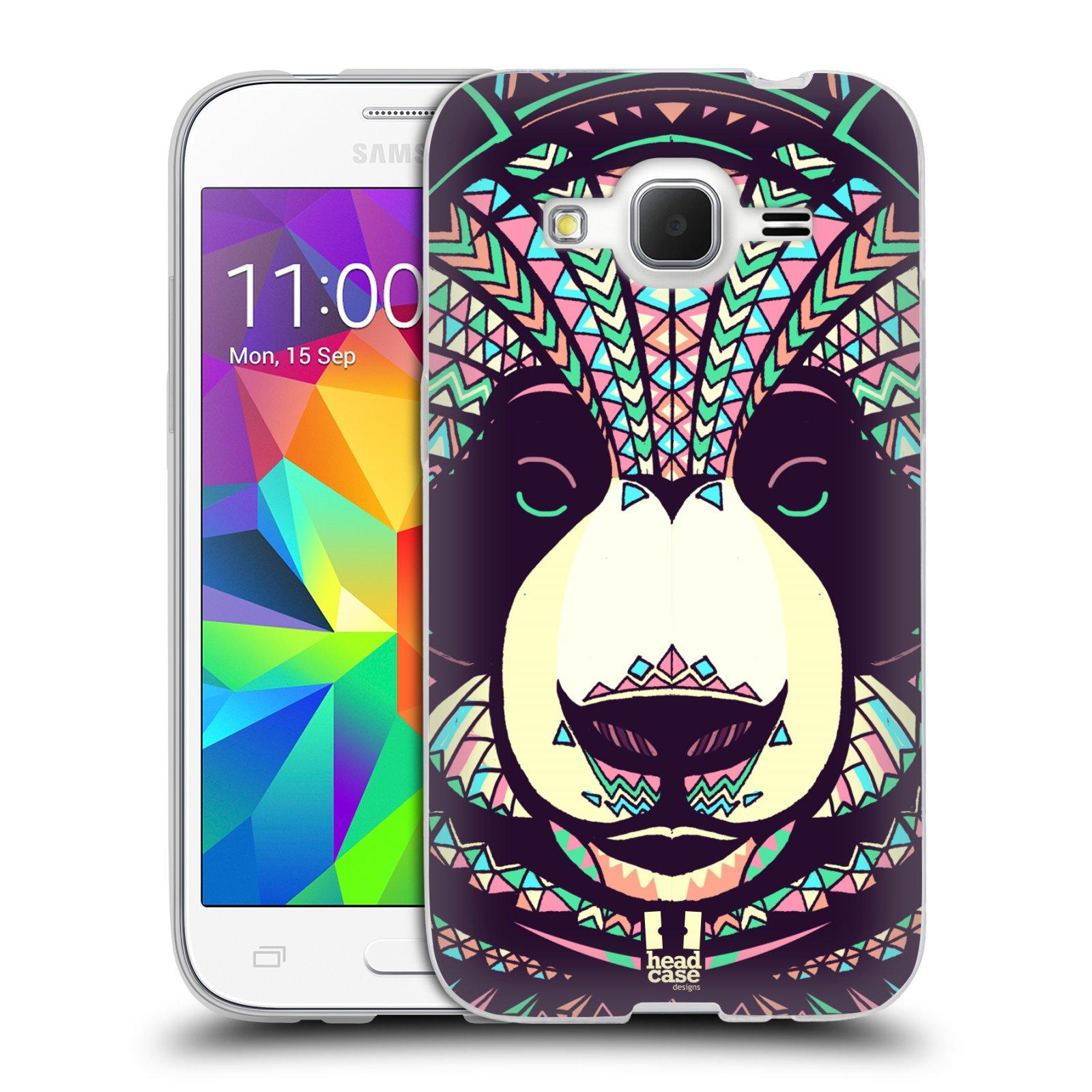 Silikonové pouzdro na mobil Samsung Galaxy Core Prime LTE HEAD CASE AZTEC PANDA