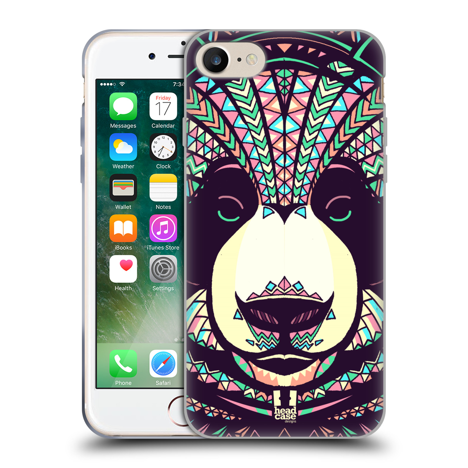 Silikonové pouzdro na mobil Apple iPhone 8 - Head Case - AZTEC PANDA