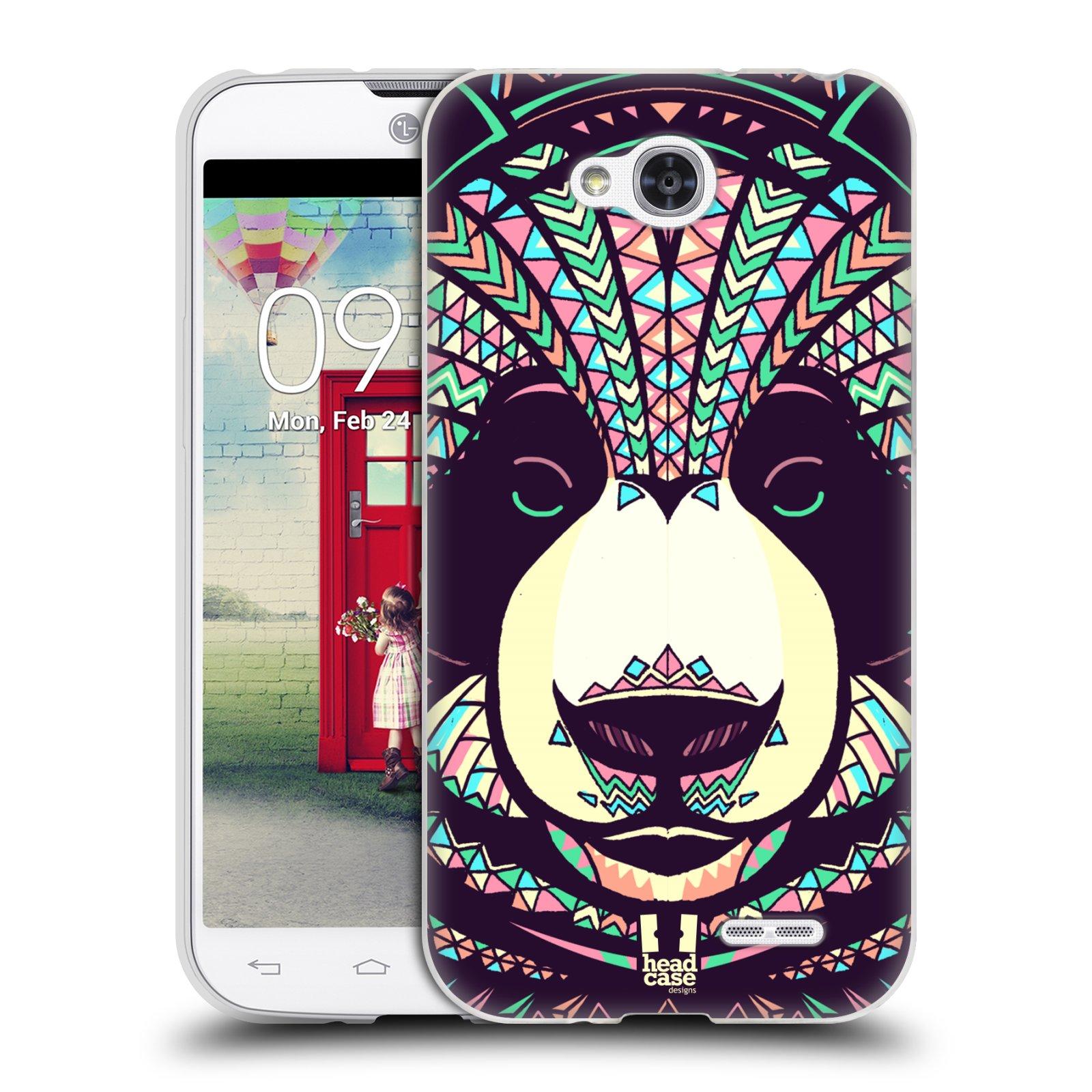 Silikonové pouzdro na mobil LG L90 HEAD CASE AZTEC PANDA (Silikonový kryt či obal na mobilní telefon LG L90 D405n)