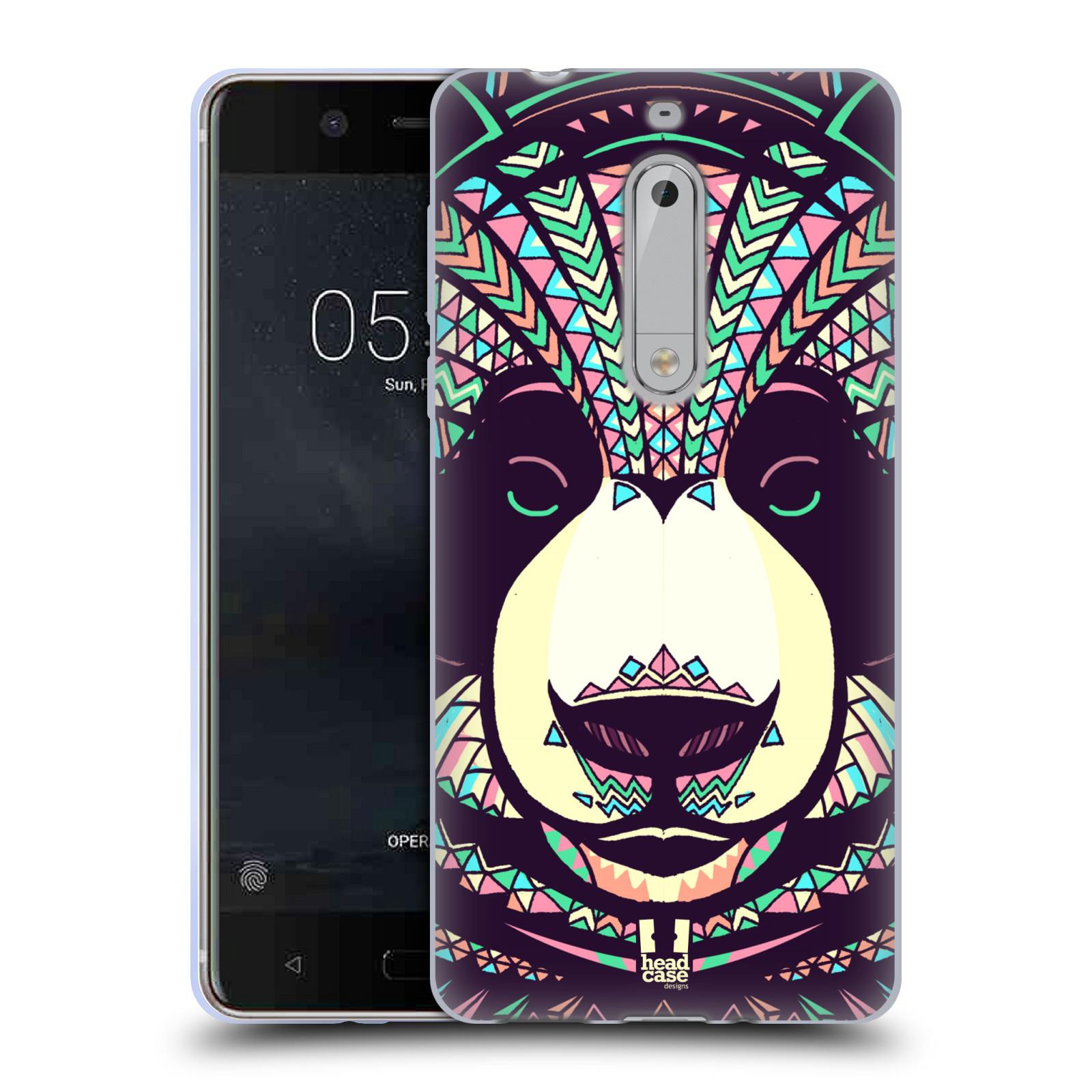 Silikonové pouzdro na mobil Nokia 5 Head Case - AZTEC PANDA