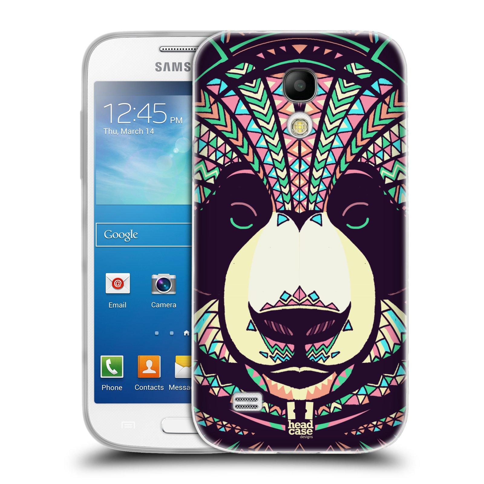 Silikonové pouzdro na mobil Samsung Galaxy S4 Mini HEAD CASE AZTEC PANDA