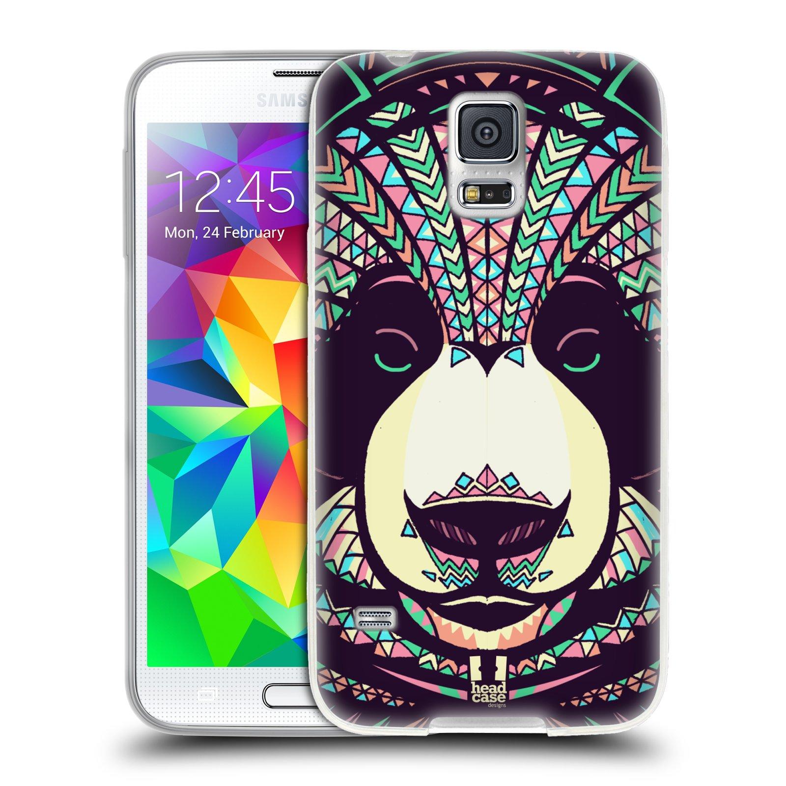 Silikonové pouzdro na mobil Samsung Galaxy S5 HEAD CASE AZTEC PANDA