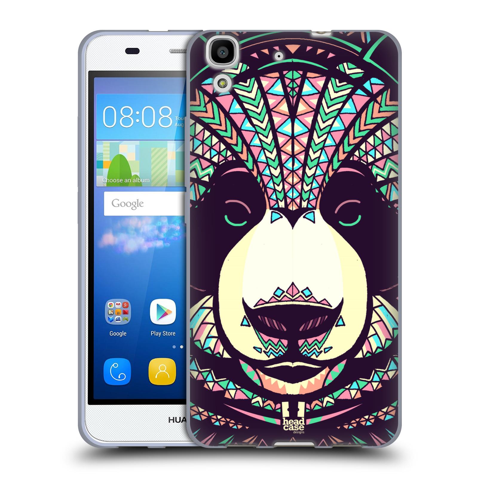 Silikonové pouzdro na mobil Huawei Y6 HEAD CASE AZTEC PANDA