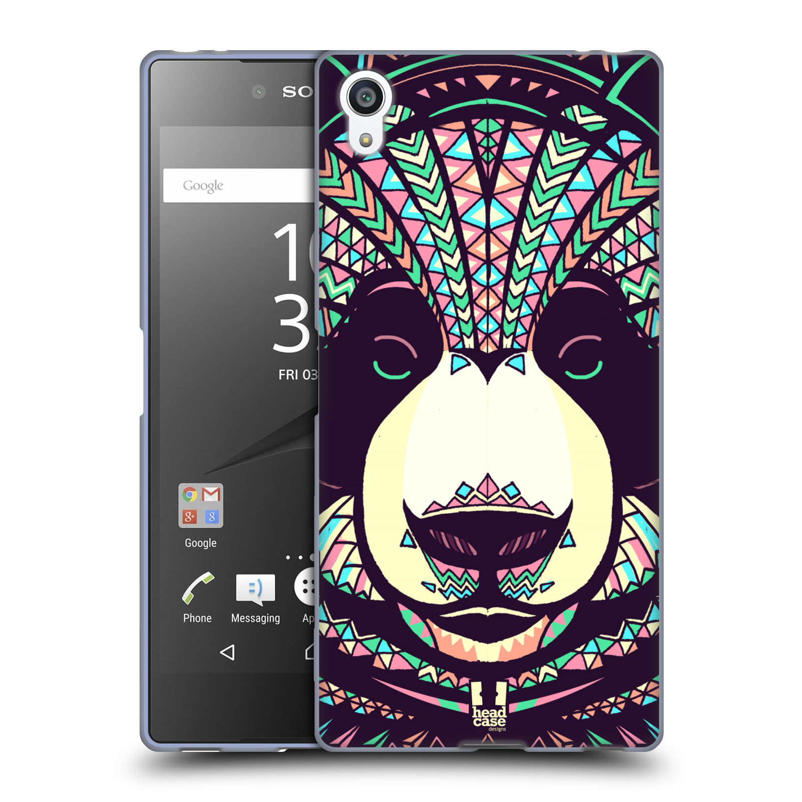 Silikonové pouzdro na mobil Sony Xperia Z5 Premium HEAD CASE AZTEC PANDA