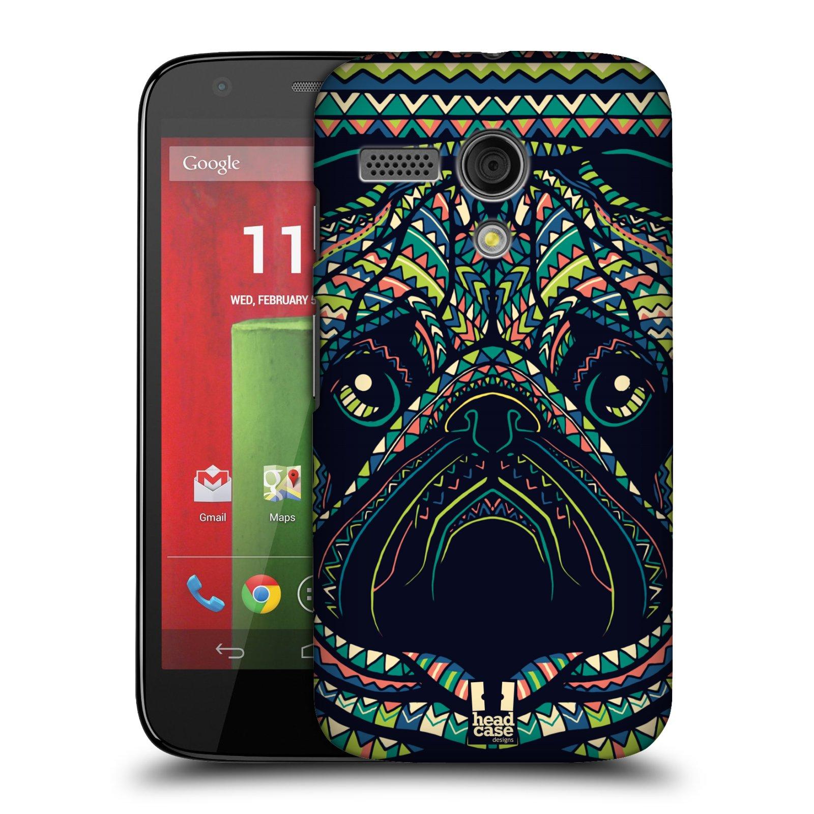 Plastové pouzdro na mobil Motorola Moto G HEAD CASE AZTEC MOPS (Kryt či obal na mobilní telefon Motorola Moto G)