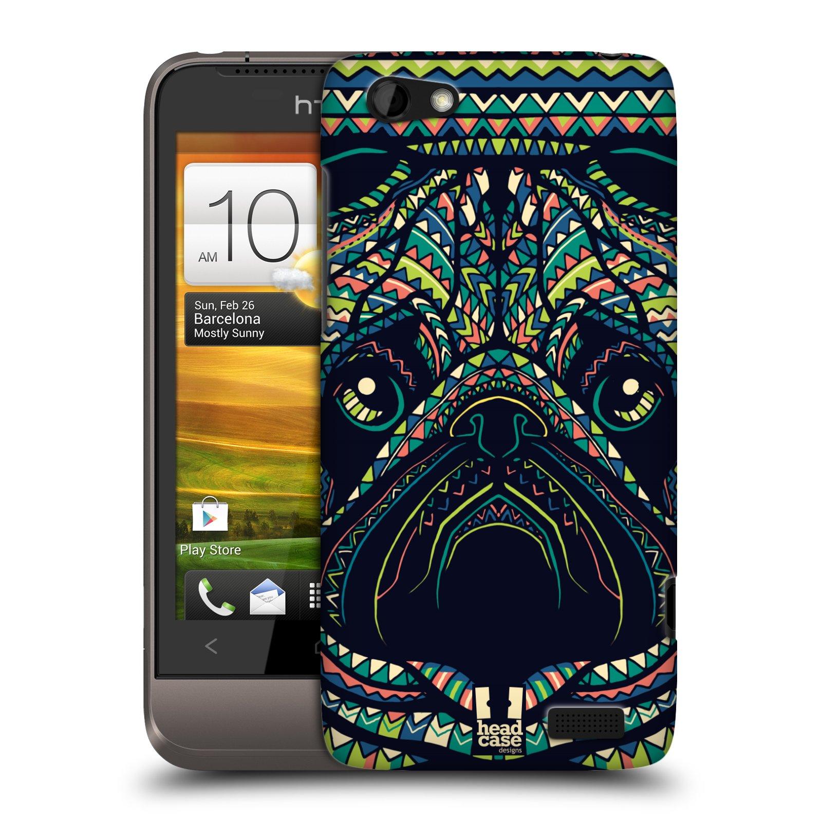 Plastové pouzdro na mobil HTC ONE V HEAD CASE AZTEC MOPS (Kryt či obal na mobilní telefon HTC ONE V)