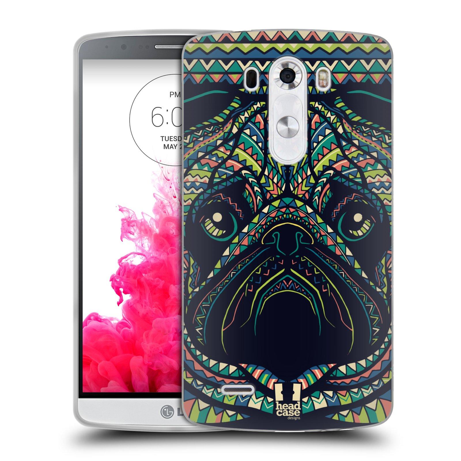 Silikonové pouzdro na mobil LG G3 HEAD CASE AZTEC MOPS (Silikonový kryt či obal na mobilní telefon LG G3 D855)