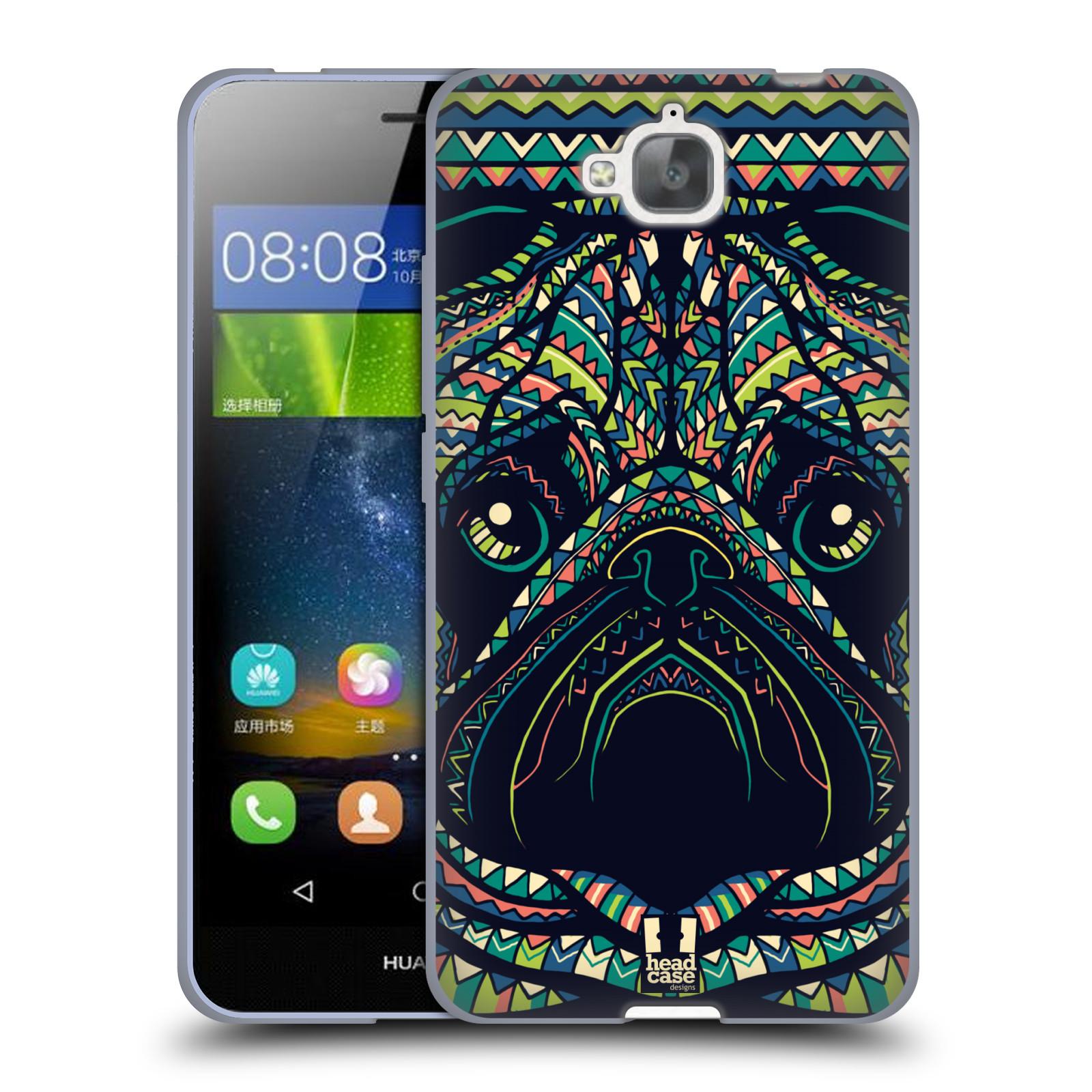 Silikonové pouzdro na mobil Huawei Y6 Pro Dual Sim HEAD CASE AZTEC MOPS