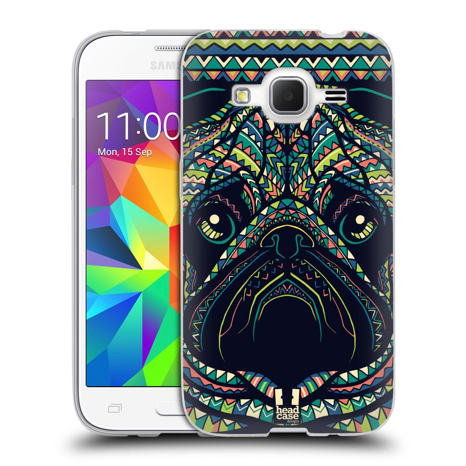 Silikonové pouzdro na mobil Samsung Galaxy Core Prime VE HEAD CASE AZTEC MOPS