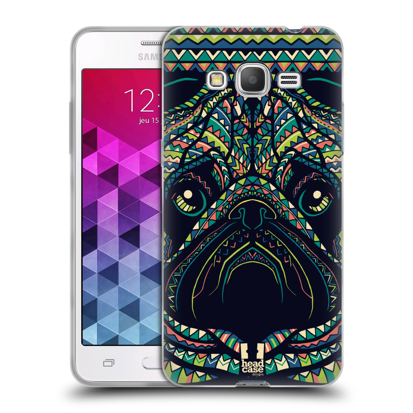 Silikonové pouzdro na mobil Samsung Galaxy Grand Prime HEAD CASE AZTEC MOPS