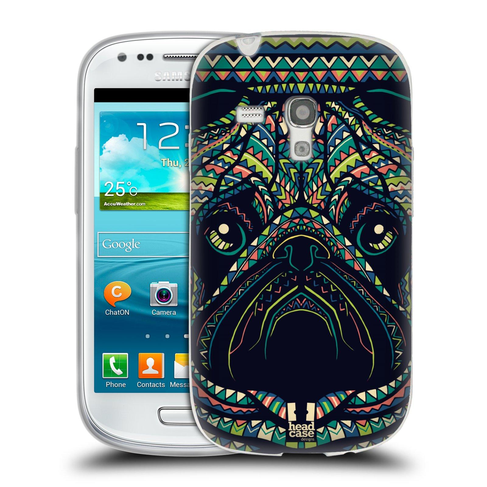 Silikonové pouzdro na mobil Samsung Galaxy S III Mini HEAD CASE AZTEC MOPS (Silikonový kryt či obal na mobilní telefon Samsung Galaxy S III Mini GT-i8190)