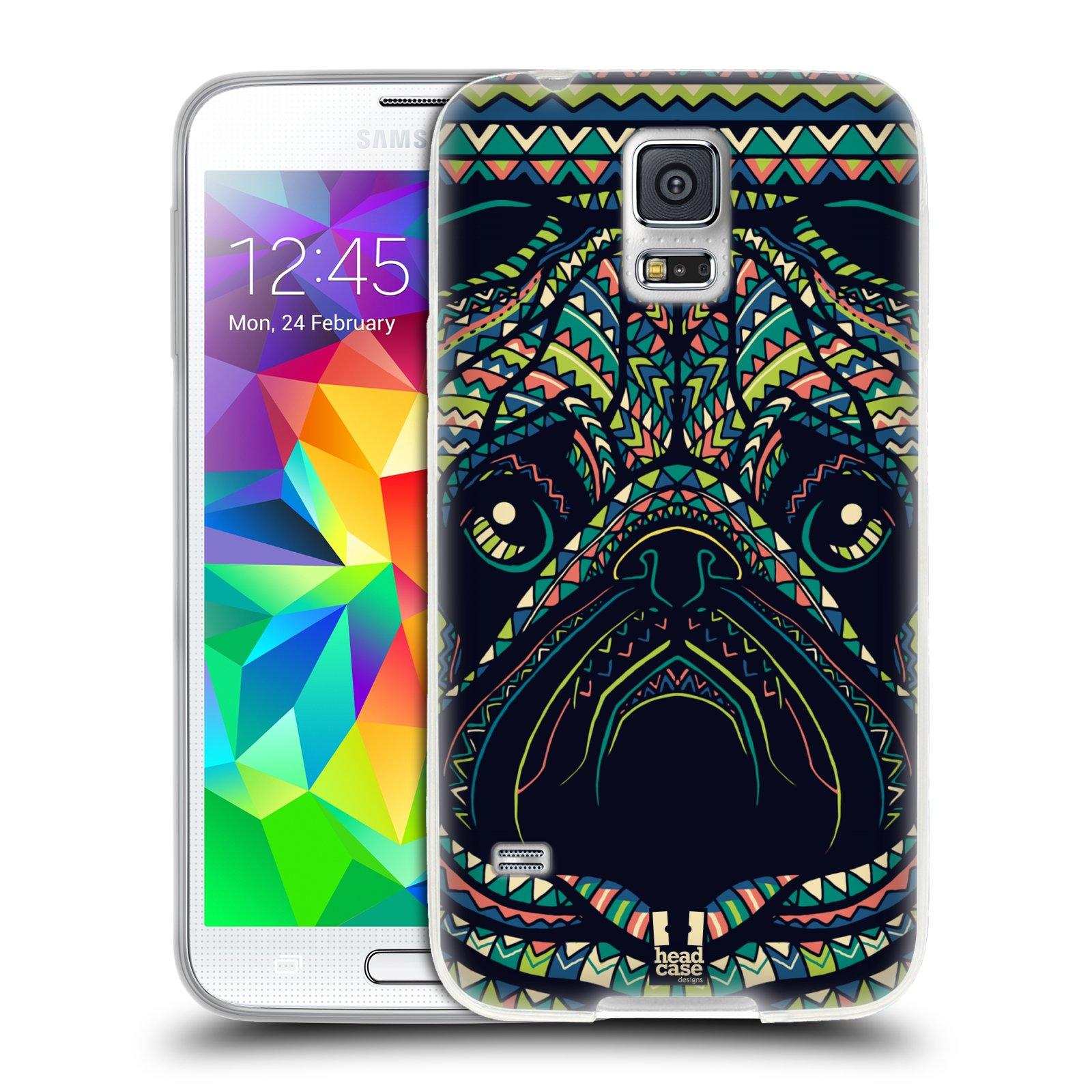 Silikonové pouzdro na mobil Samsung Galaxy S5 HEAD CASE AZTEC MOPS
