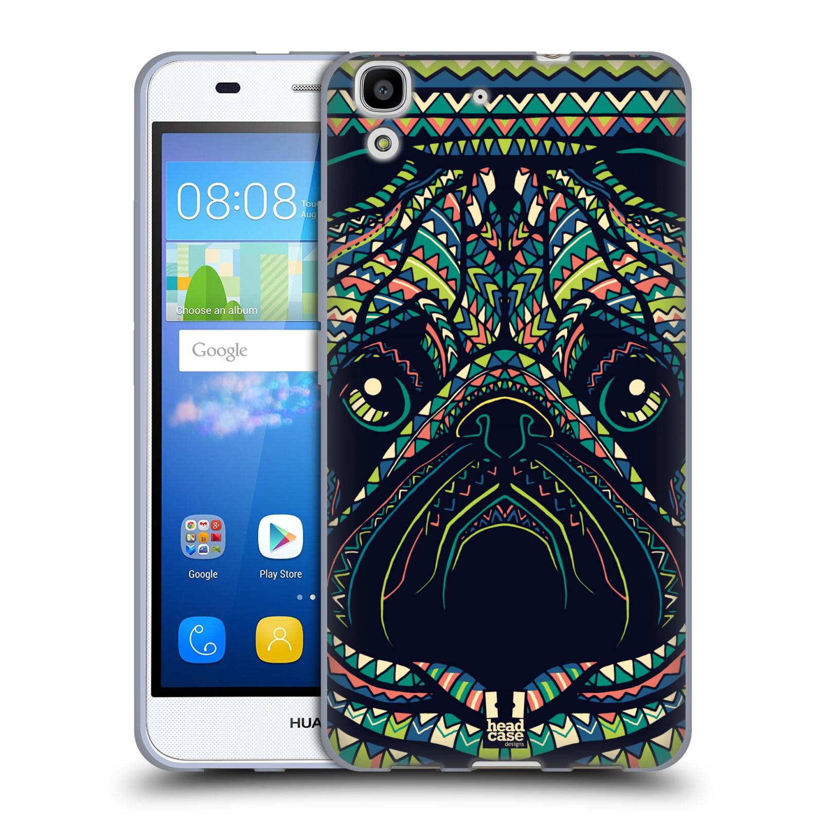 Silikonové pouzdro na mobil Huawei Y6 HEAD CASE AZTEC MOPS