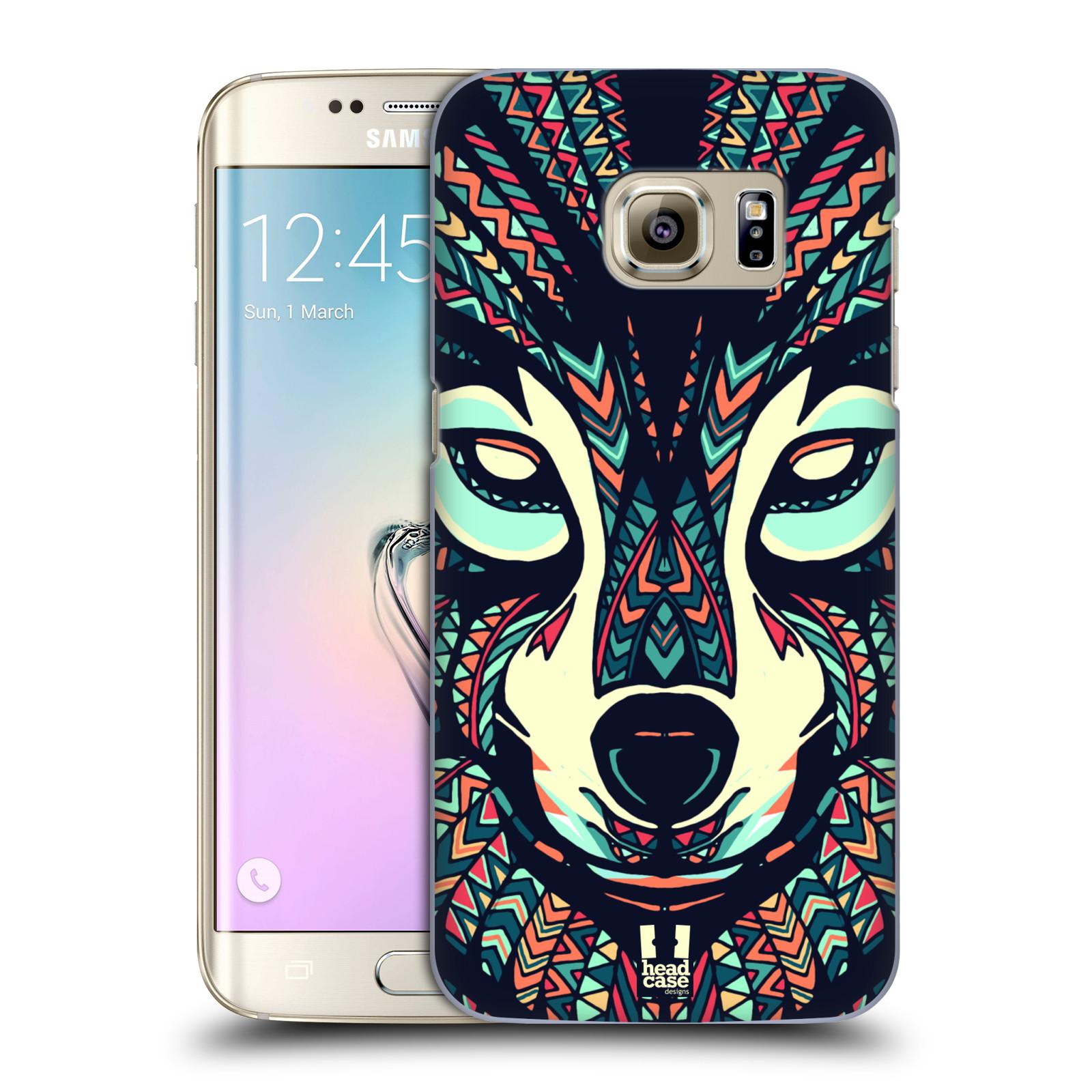 Plastové pouzdro na mobil Samsung Galaxy S7 Edge HEAD CASE AZTEC VLK