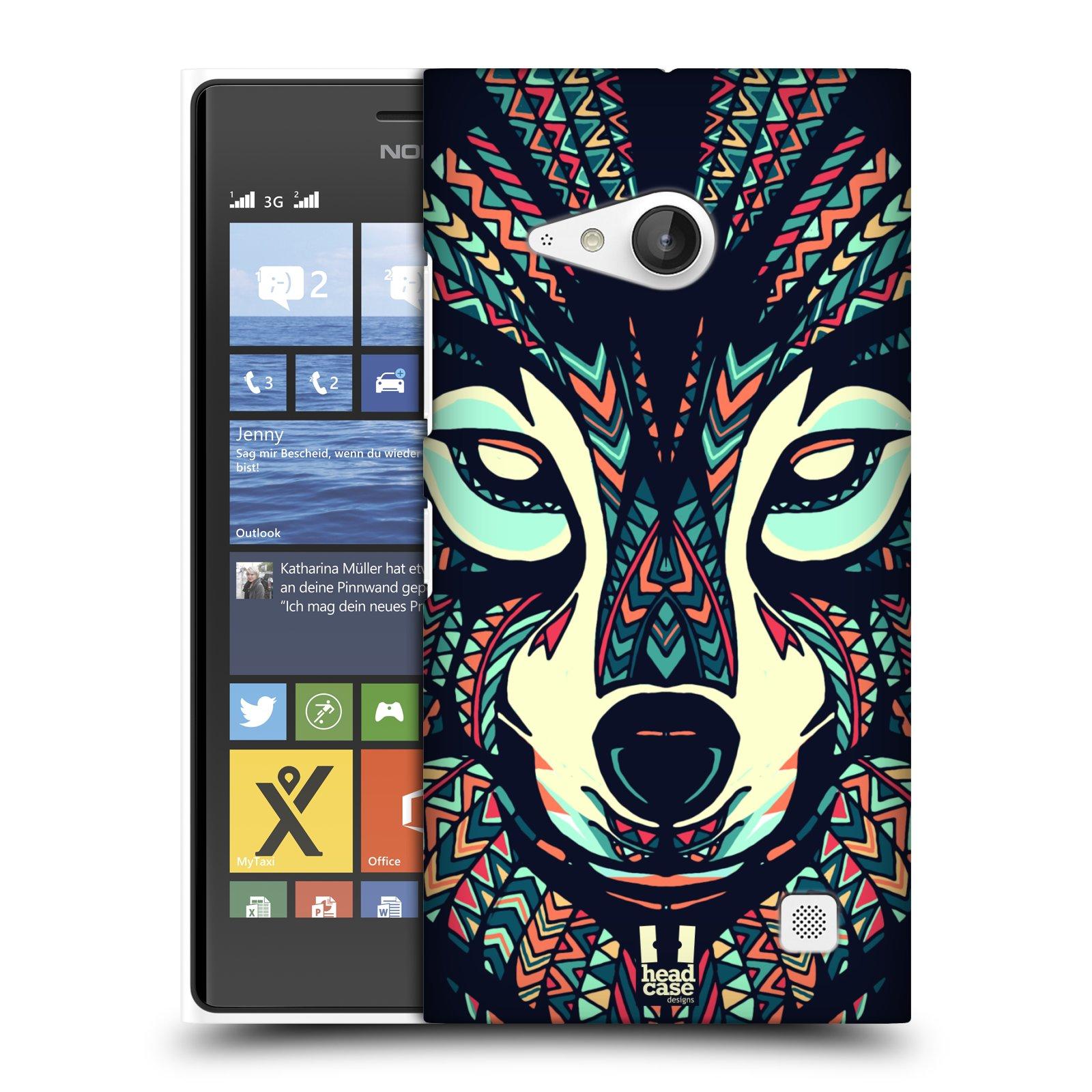 Plastové pouzdro na mobil Nokia Lumia 735 HEAD CASE AZTEC VLK