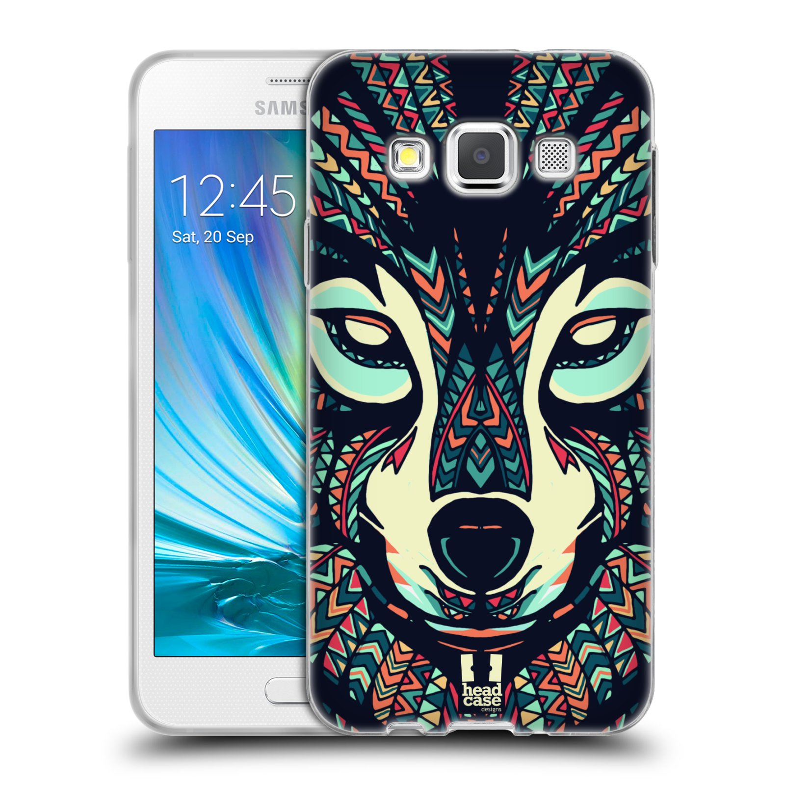 Silikonové pouzdro na mobil Samsung Galaxy A3 HEAD CASE AZTEC VLK