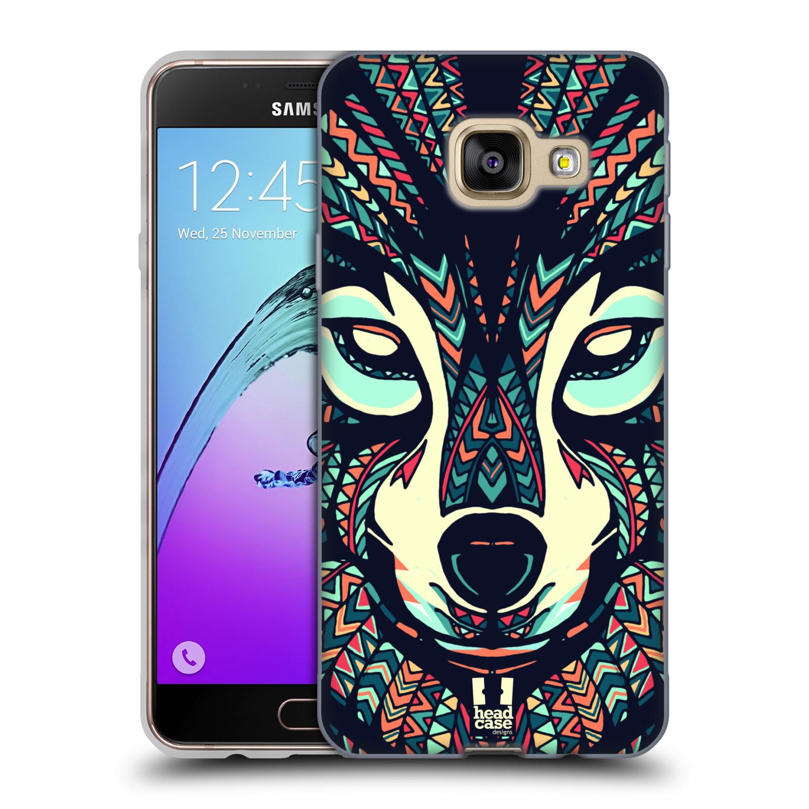 Silikonové pouzdro na mobil Samsung Galaxy A3 (2016) HEAD CASE AZTEC VLK