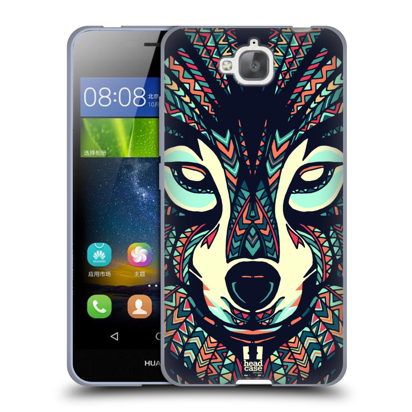 Silikonové pouzdro na mobil Huawei Y6 Pro Dual Sim HEAD CASE AZTEC VLK