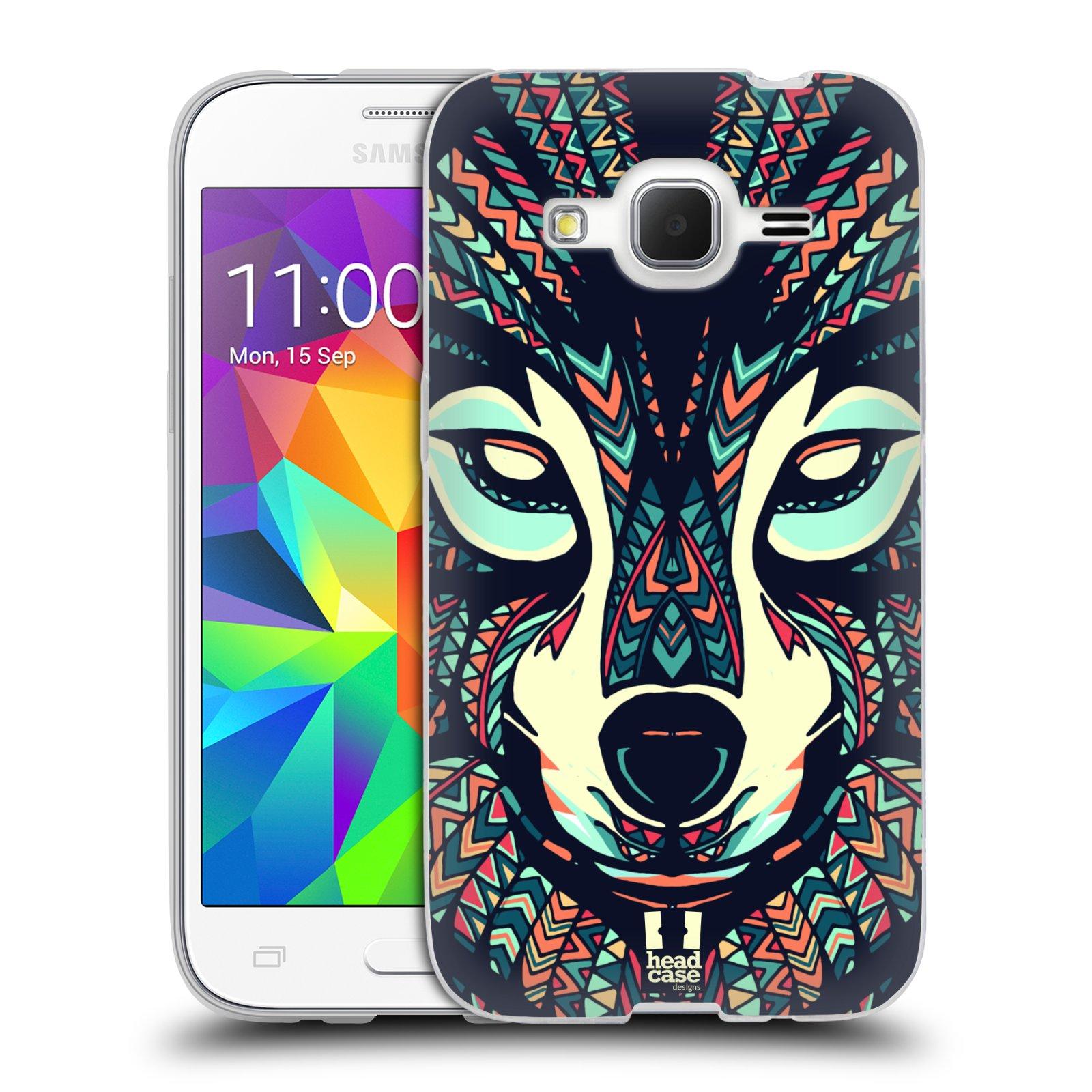Silikonové pouzdro na mobil Samsung Galaxy Core Prime LTE HEAD CASE AZTEC VLK