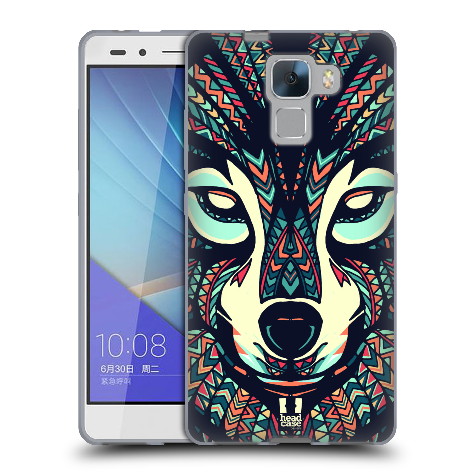 Silikonové pouzdro na mobil Honor 7 HEAD CASE AZTEC VLK