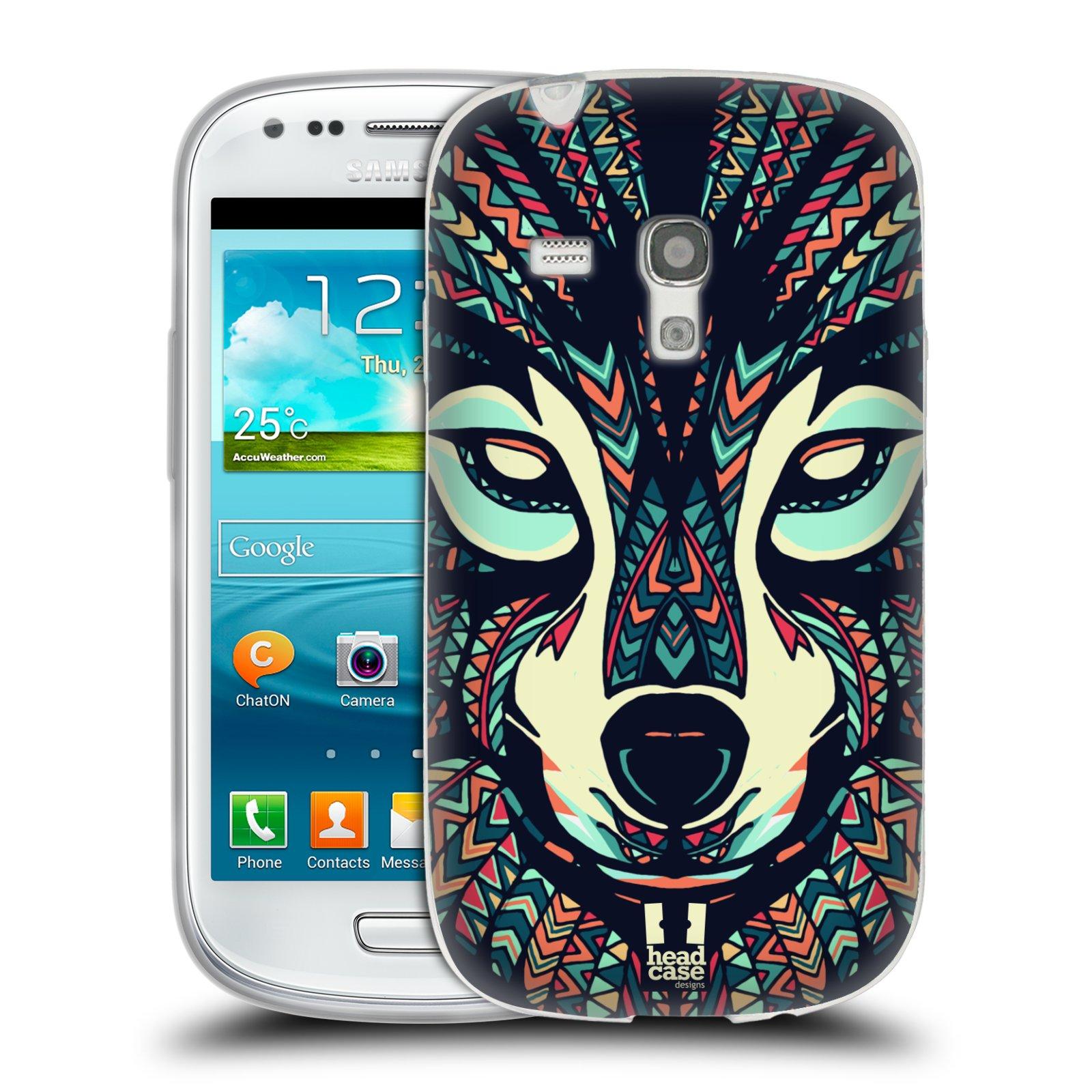 Silikonové pouzdro na mobil Samsung Galaxy S III Mini HEAD CASE AZTEC VLK (Silikonový kryt či obal na mobilní telefon Samsung Galaxy S III Mini GT-i8190)
