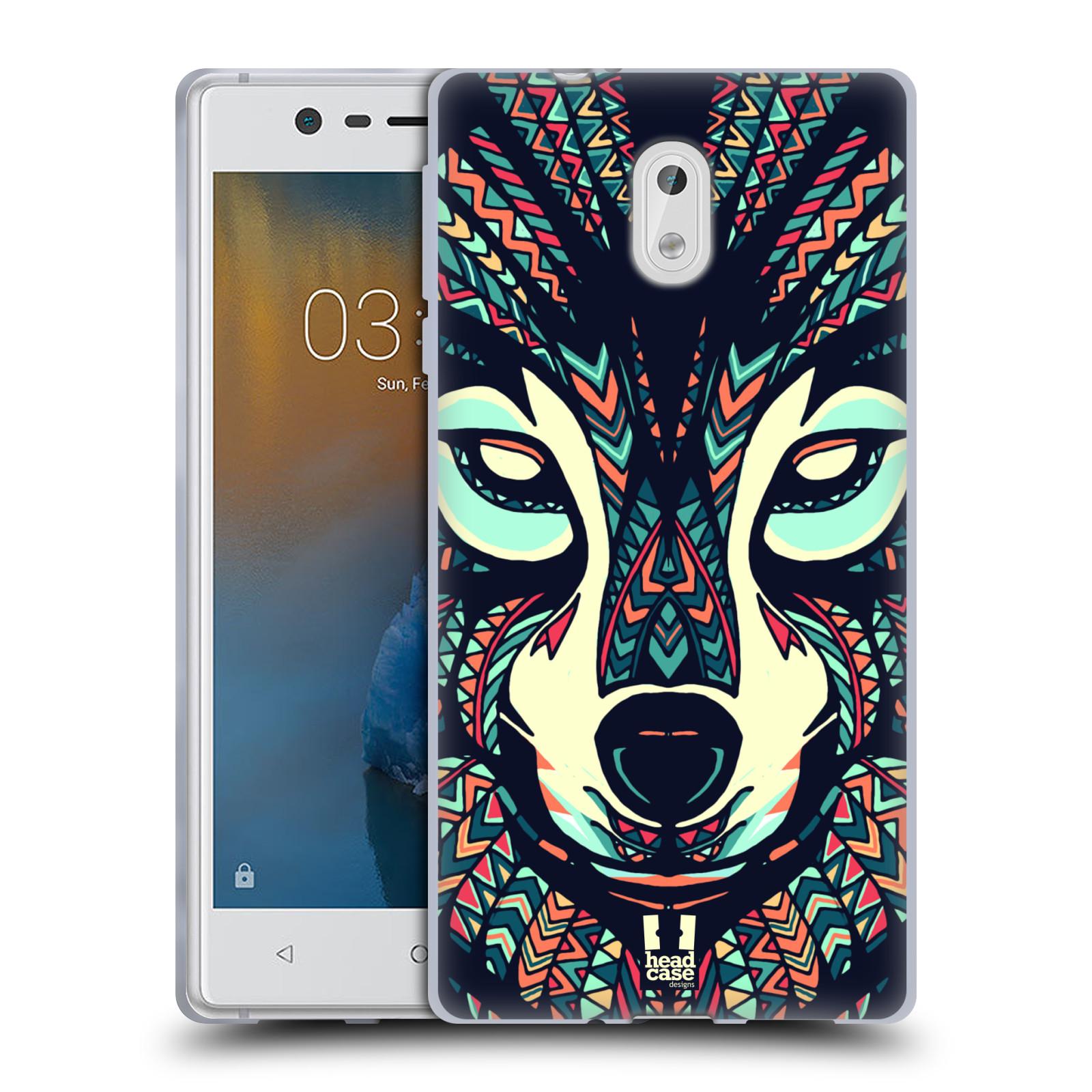 Silikonové pouzdro na mobil Nokia 3 Head Case - AZTEC VLK