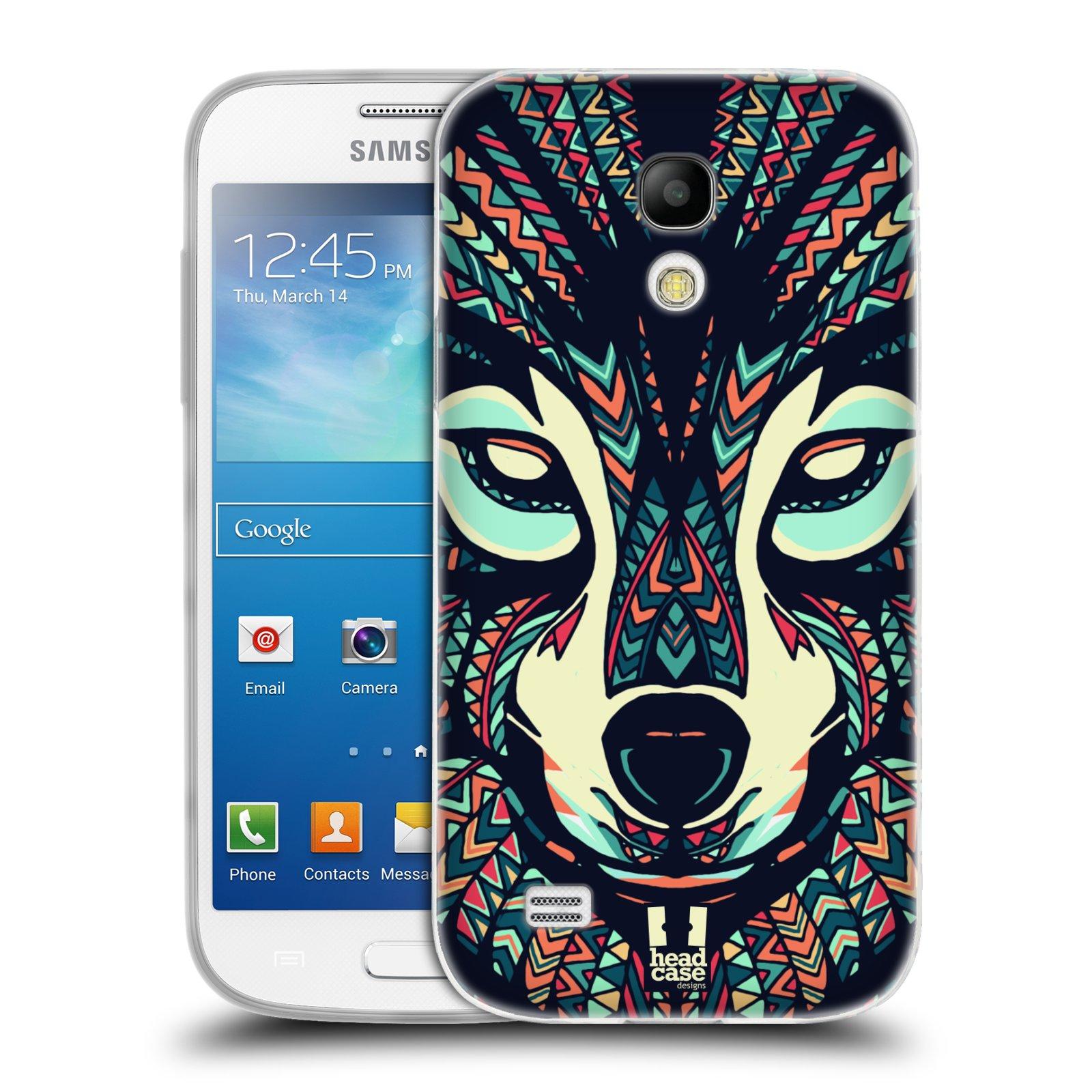 Silikonové pouzdro na mobil Samsung Galaxy S4 Mini HEAD CASE AZTEC VLK