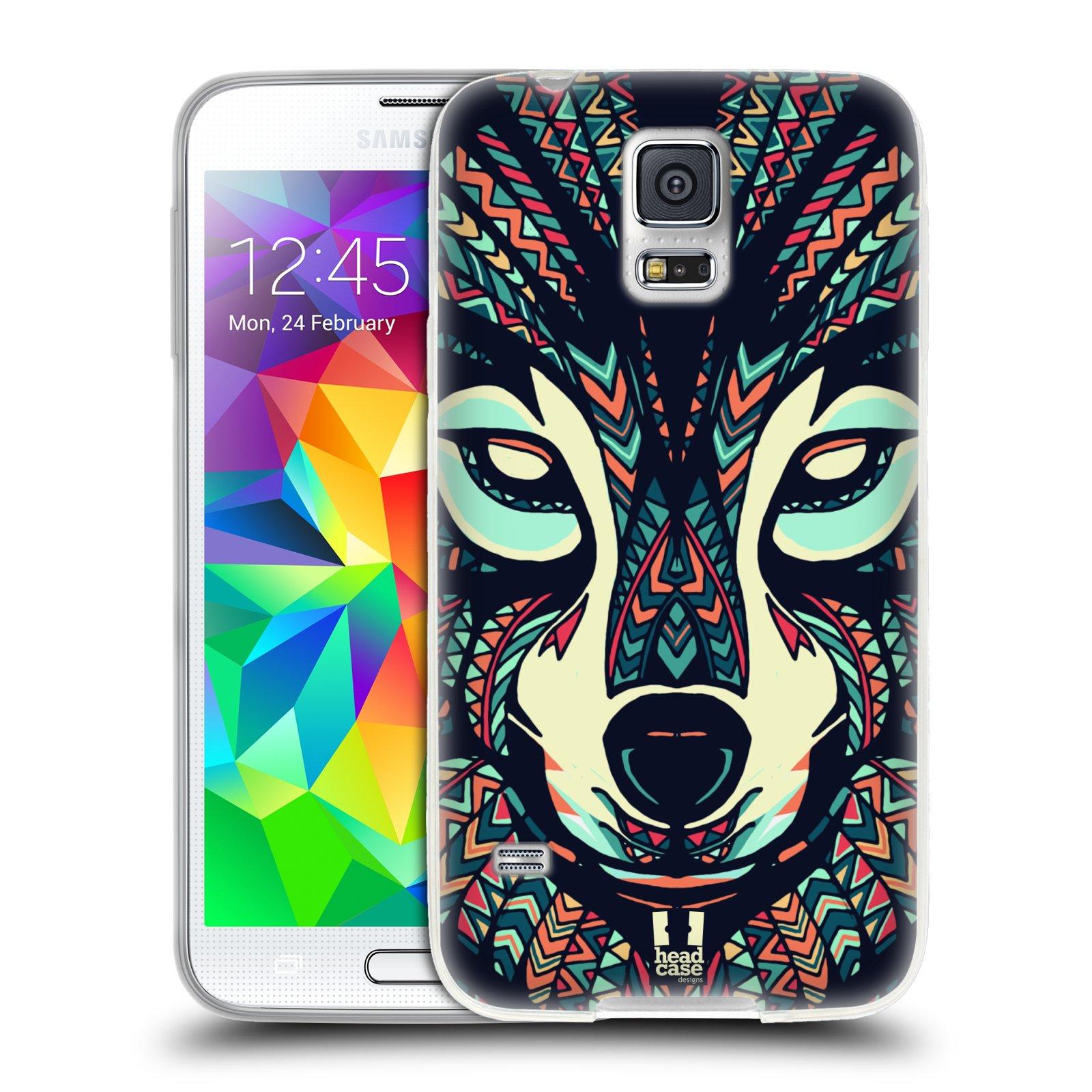 Silikonové pouzdro na mobil Samsung Galaxy S5 HEAD CASE AZTEC VLK