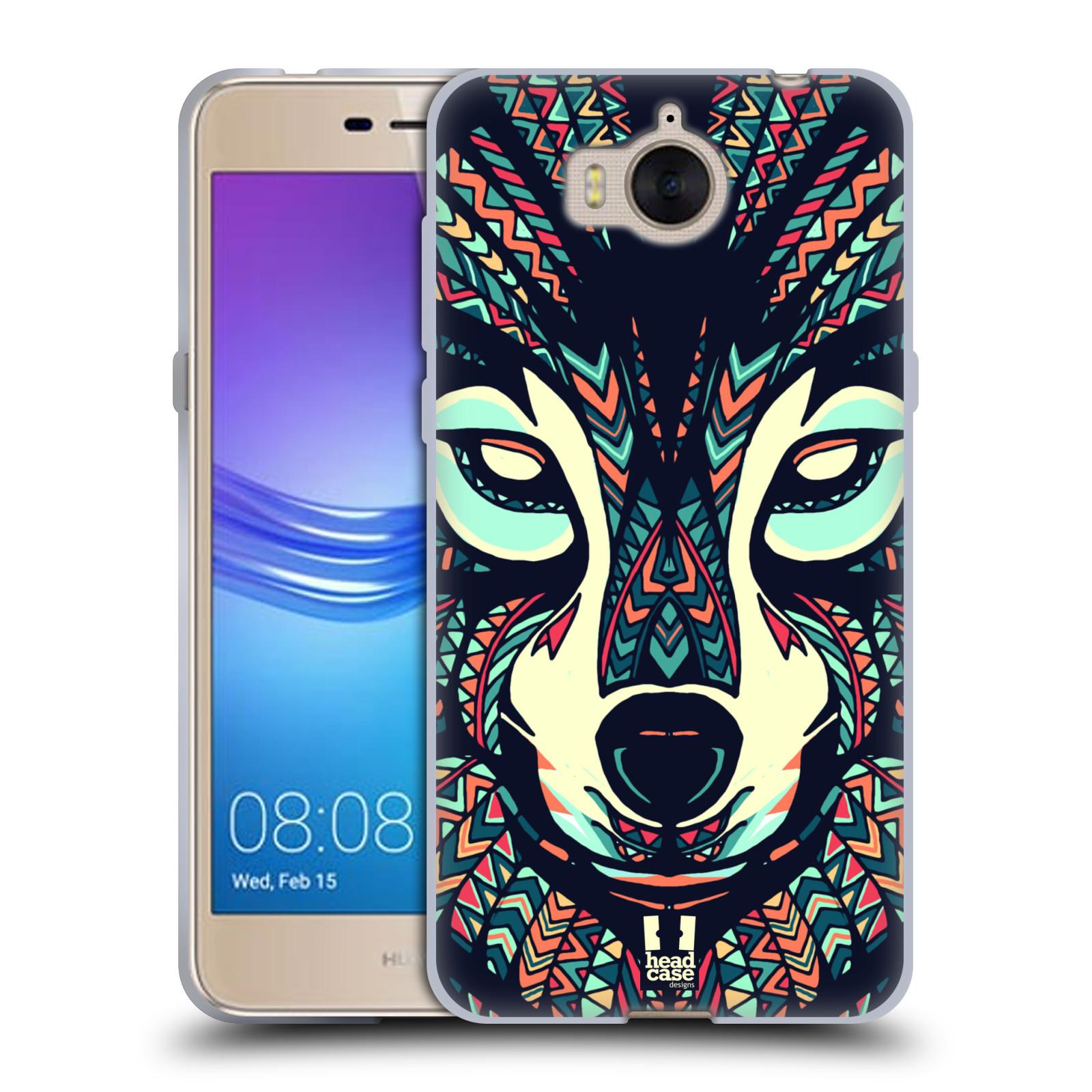 Silikonové pouzdro na mobil Huawei Y6 2017 - Head Case - AZTEC VLK (Silikonový kryt či obal na mobilní telefon Huawei Y6 (2017) s motivem AZTEC VLK)