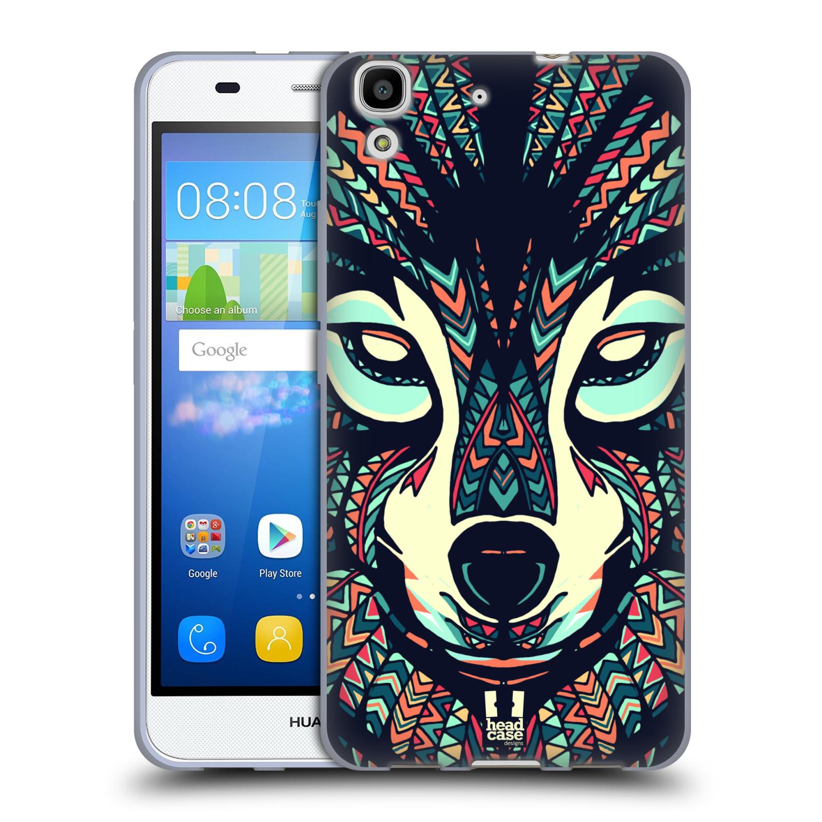 Silikonové pouzdro na mobil Huawei Y6 HEAD CASE AZTEC VLK
