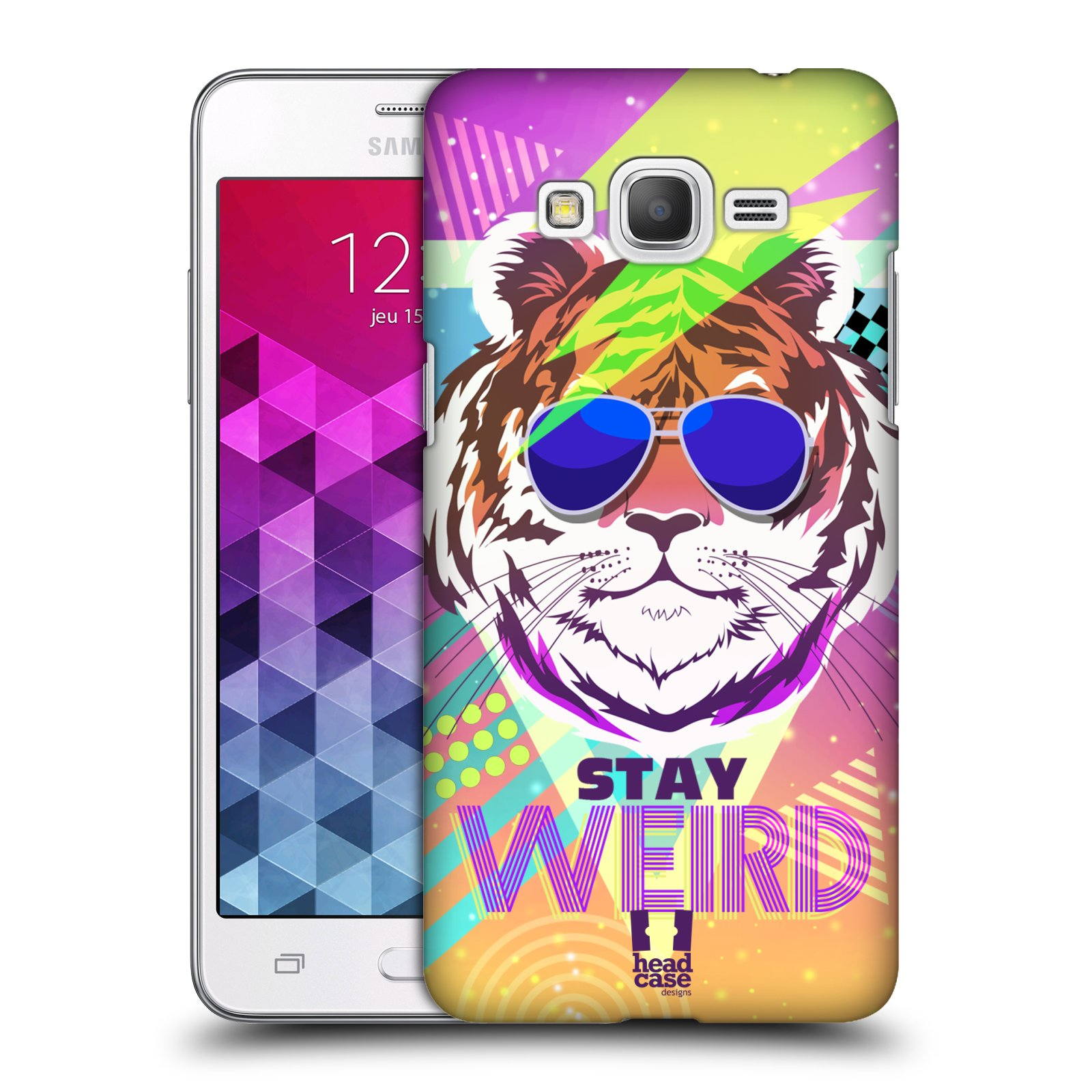 Plastové pouzdro na mobil Samsung Galaxy Grand Prime HEAD CASE STAY WEIRD