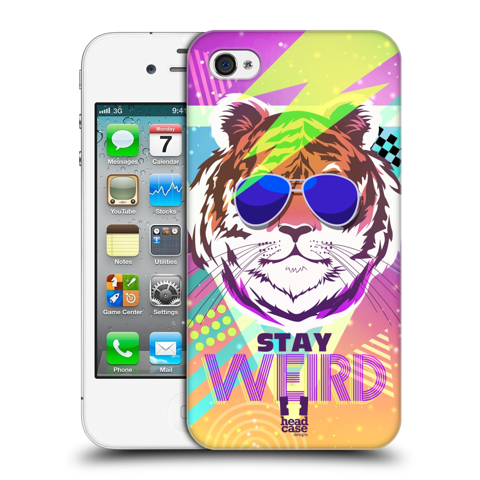 Plastové pouzdro na mobil Apple iPhone 4 a 4S HEAD CASE STAY WEIRD