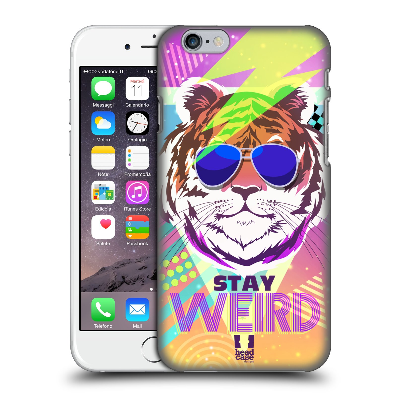 Plastové pouzdro na mobil Apple iPhone 6 a 6S HEAD CASE STAY WEIRD